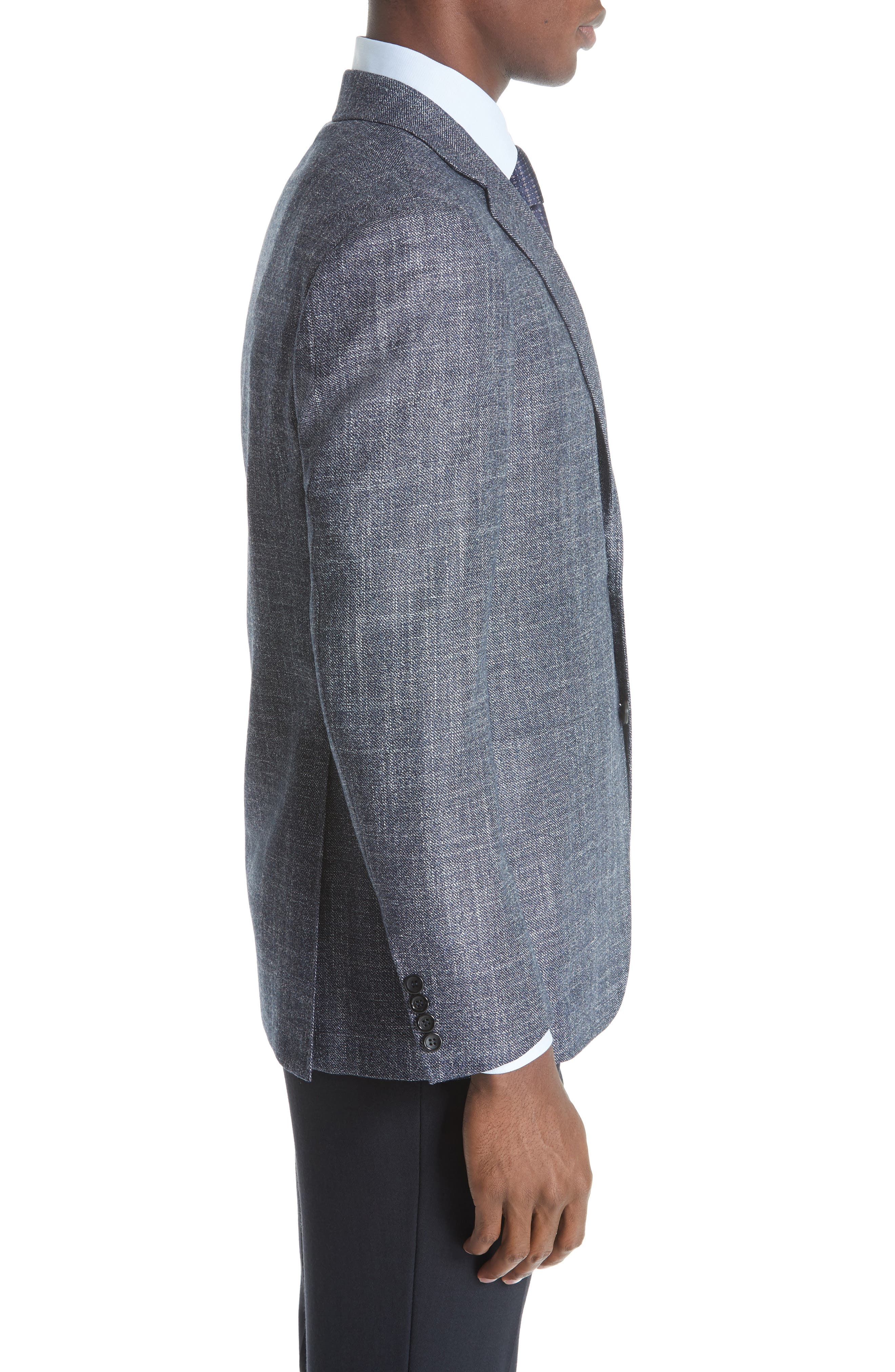 Kei Classic Fit Wool Blend Blazer,                             Alternate thumbnail 3, color,                             NAVY