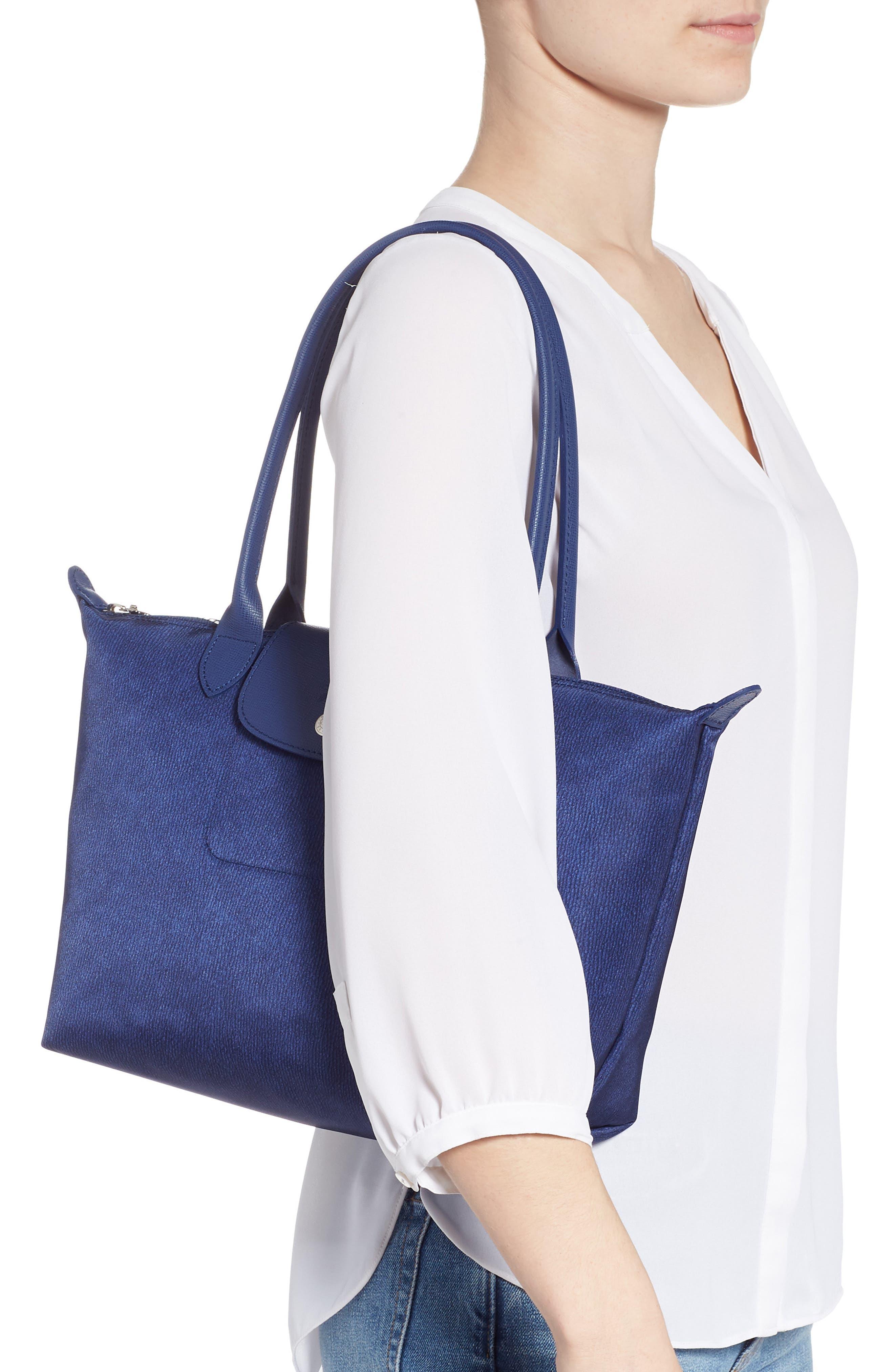Le Pliage Jeans Small Shoulder Bag,                             Alternate thumbnail 2, color,                             DENIM
