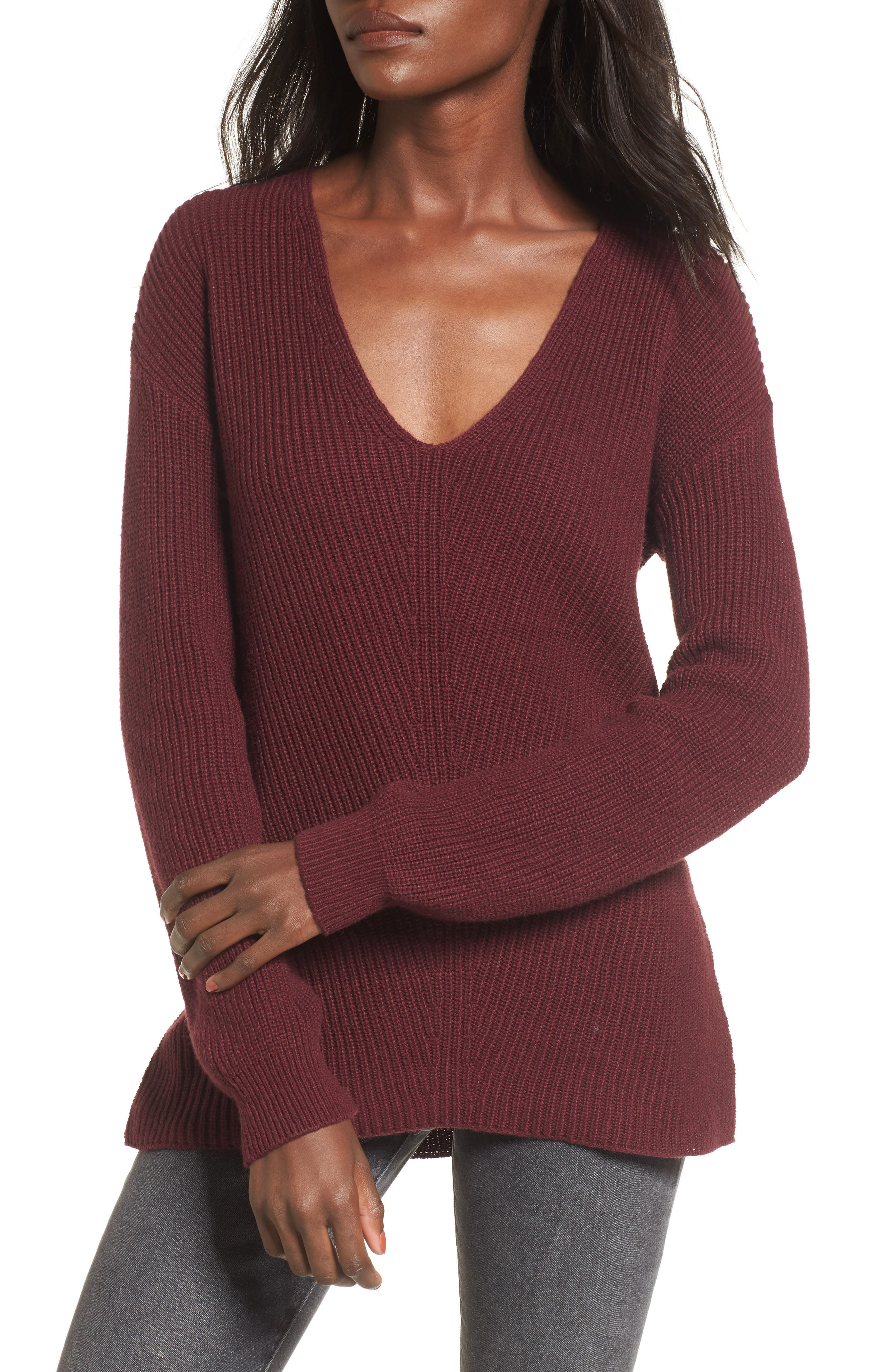 V-Neck Sweater,                             Main thumbnail 7, color,