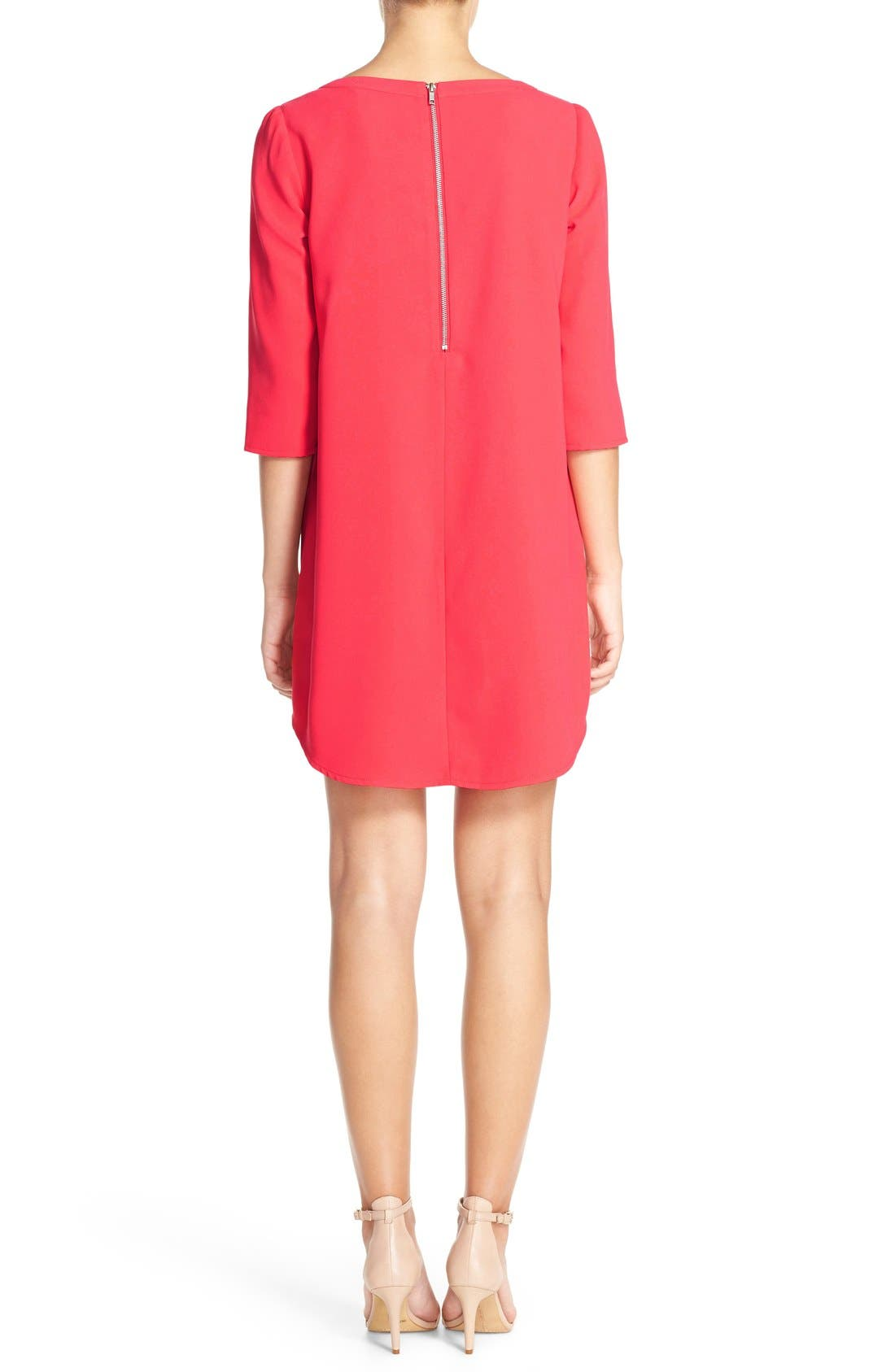 'Jazlyn' Crepe Shift Dress,                             Alternate thumbnail 34, color,