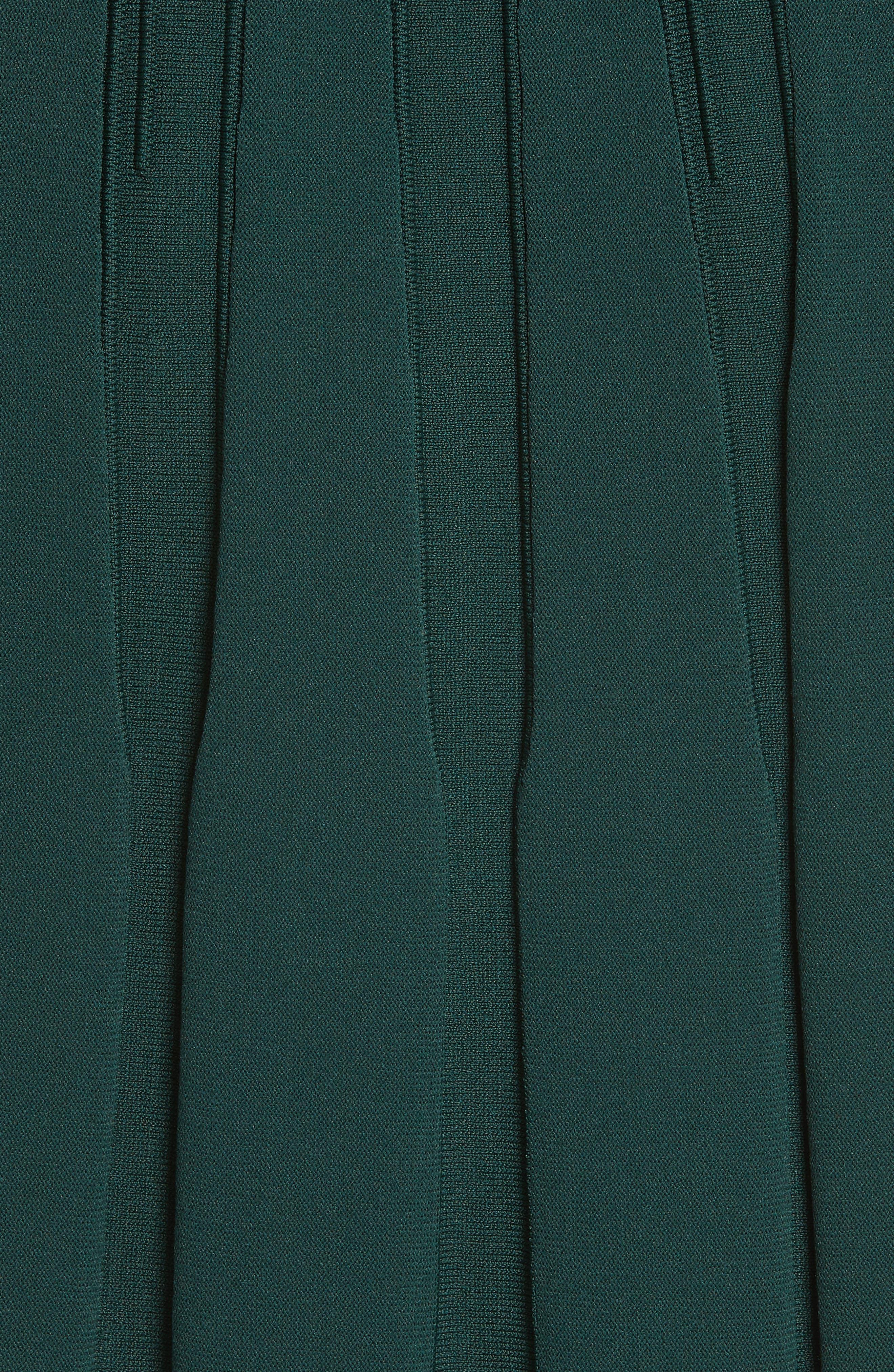 Dorlean Knit Dress,                             Alternate thumbnail 5, color,                             DARK GREEN