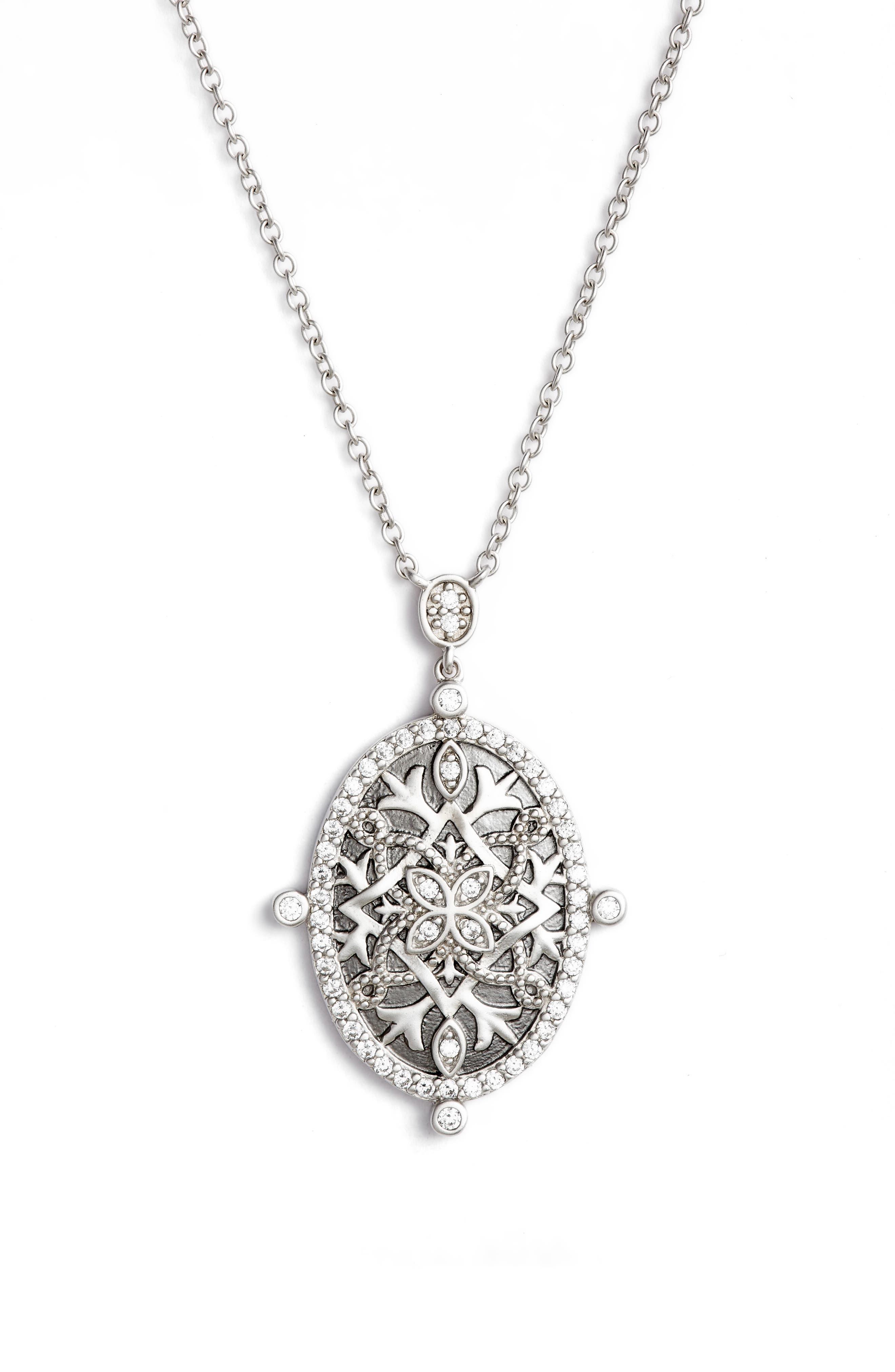 Contemporary Deco Celestial Pendant Necklace,                             Main thumbnail 1, color,                             040