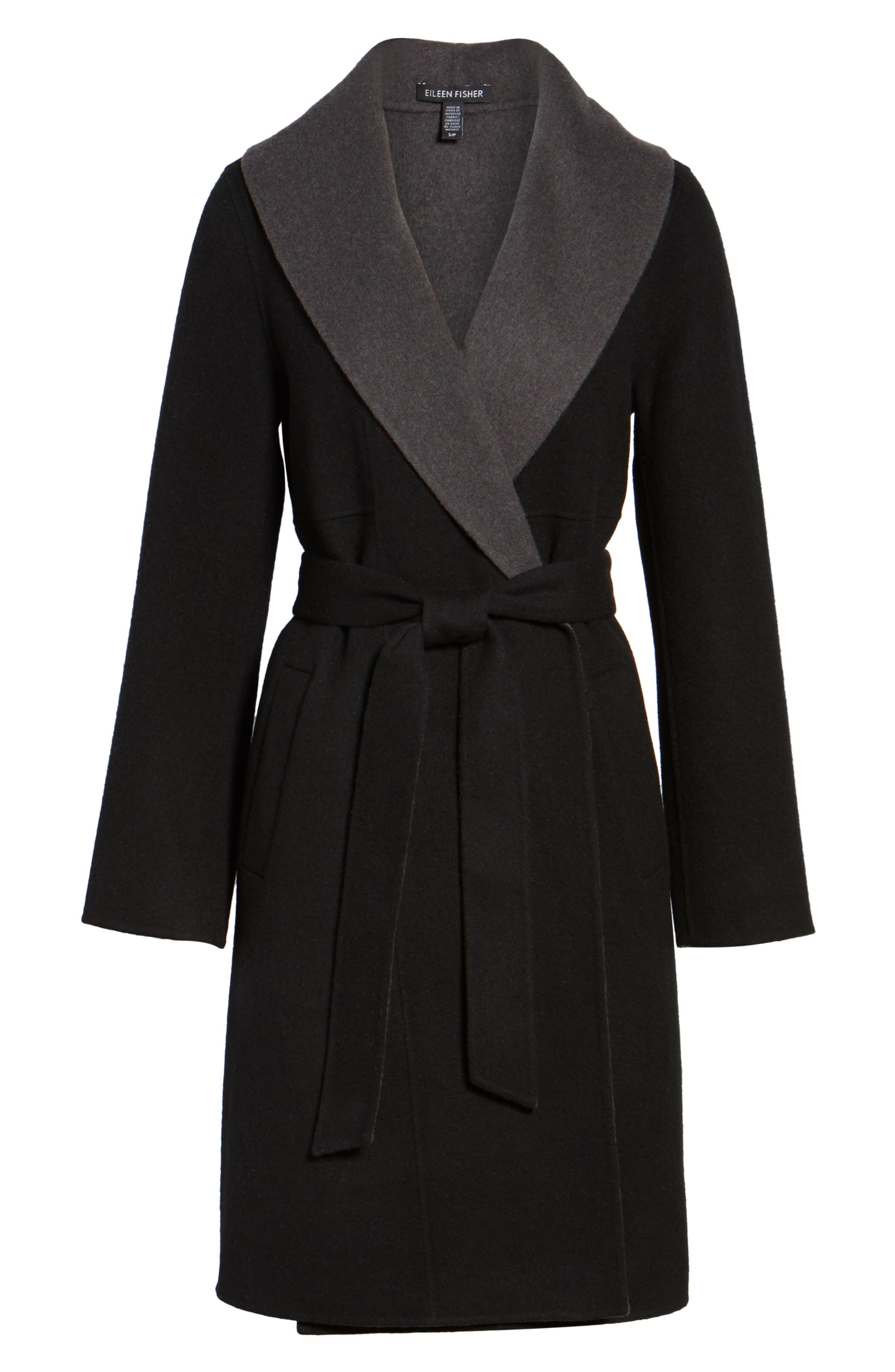 Double-Face Wool Blend Coat,                             Alternate thumbnail 5, color,                             010