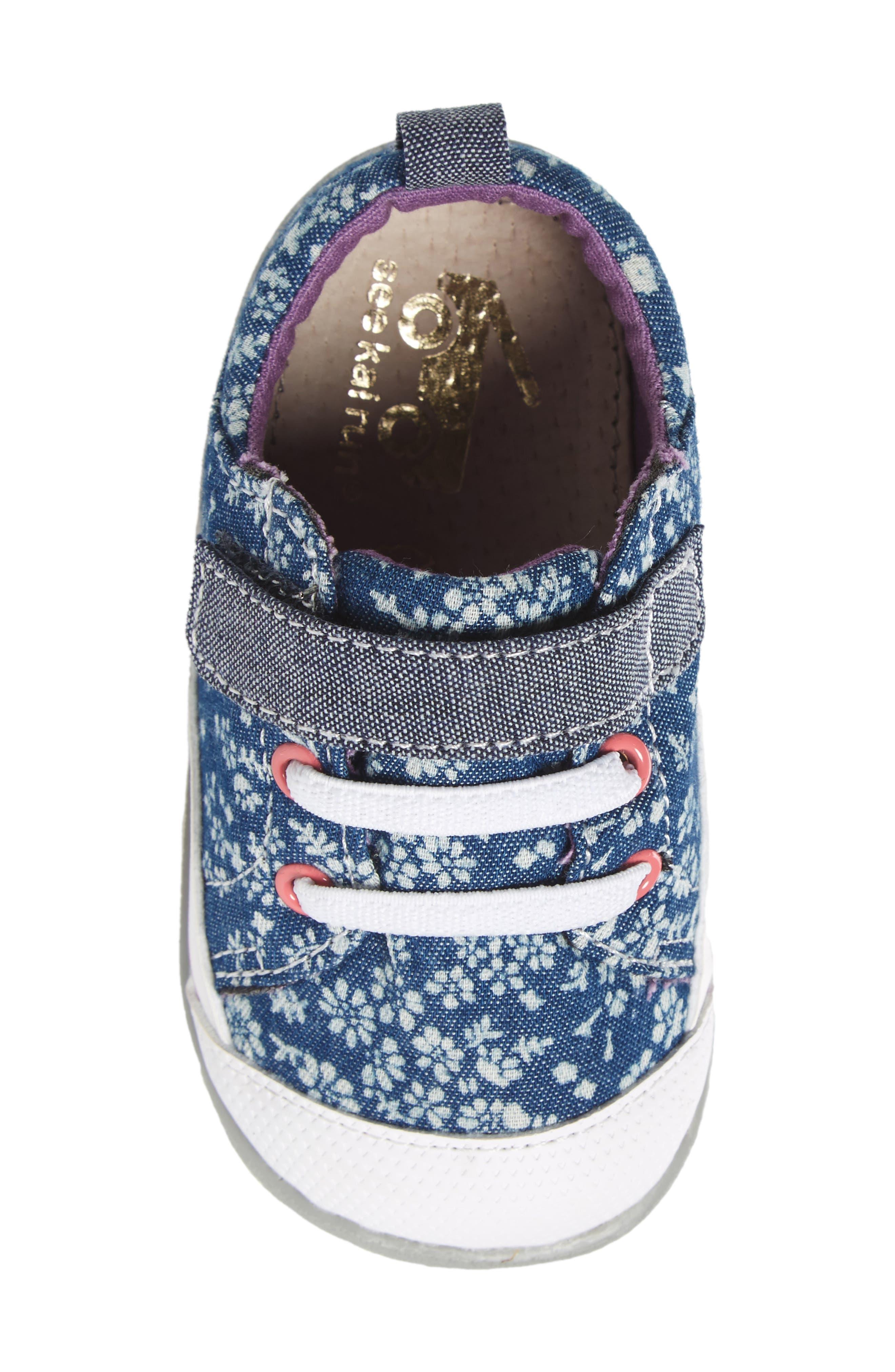 Stevie II Sneaker,                             Alternate thumbnail 5, color,                             BLUE FLOWERS