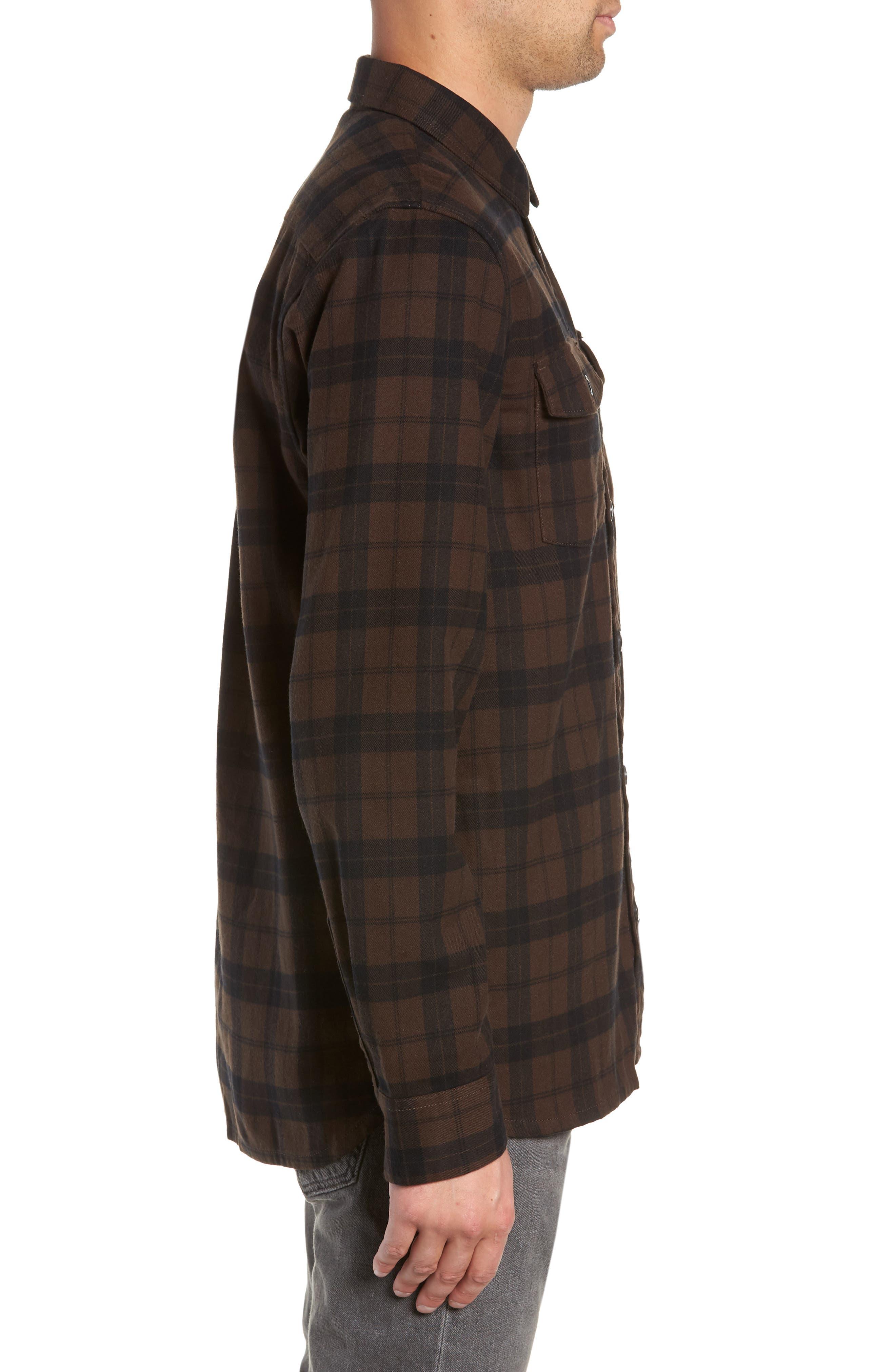 Blackstone Flannel Shirt,                             Alternate thumbnail 4, color,                             DEMITASSE/ BLACK