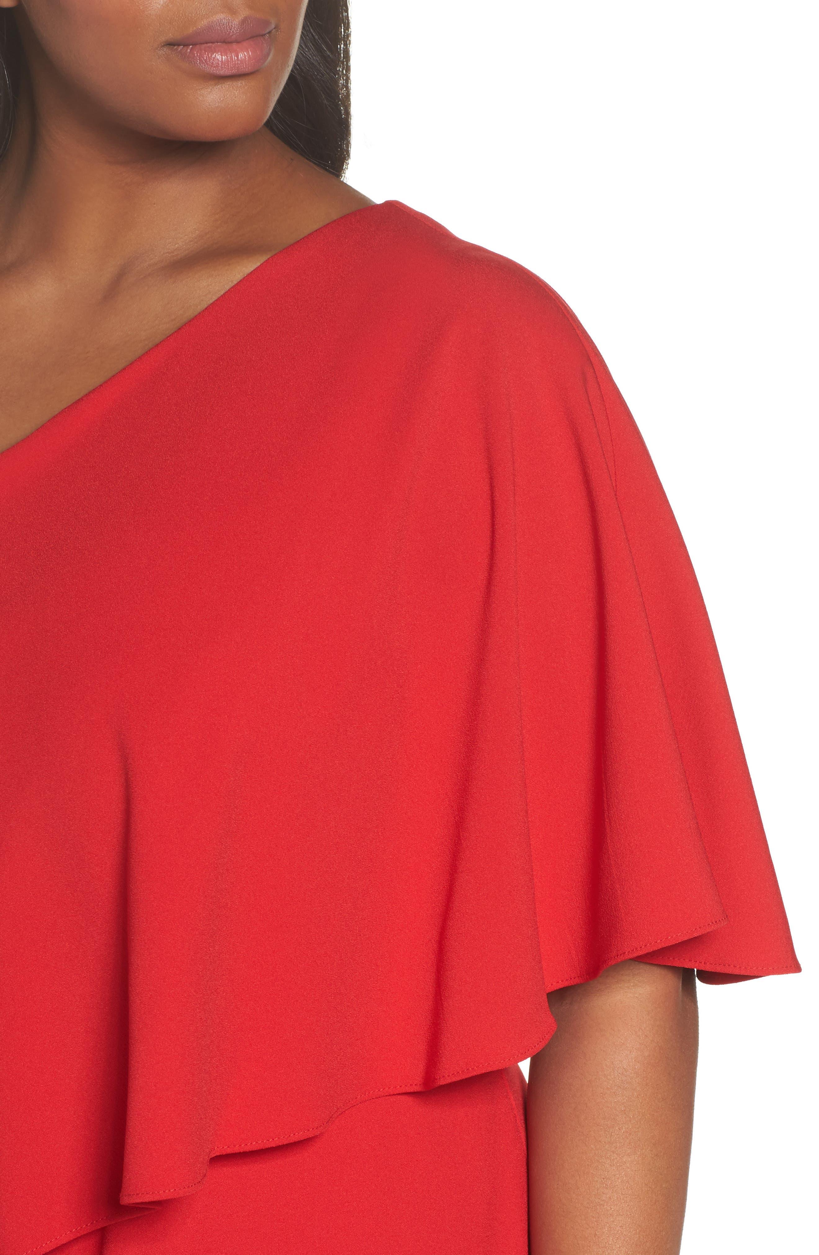 One-Shoulder Jumpsuit,                             Alternate thumbnail 4, color,                             600