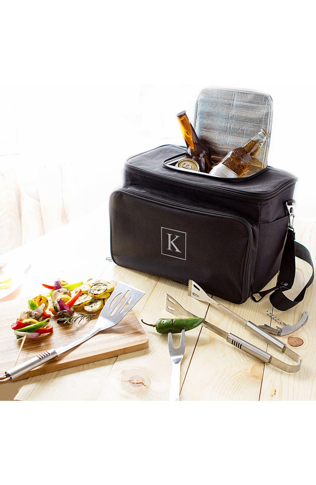 Monogram Tailgate Cooler with Grilling Tools,                             Alternate thumbnail 70, color,