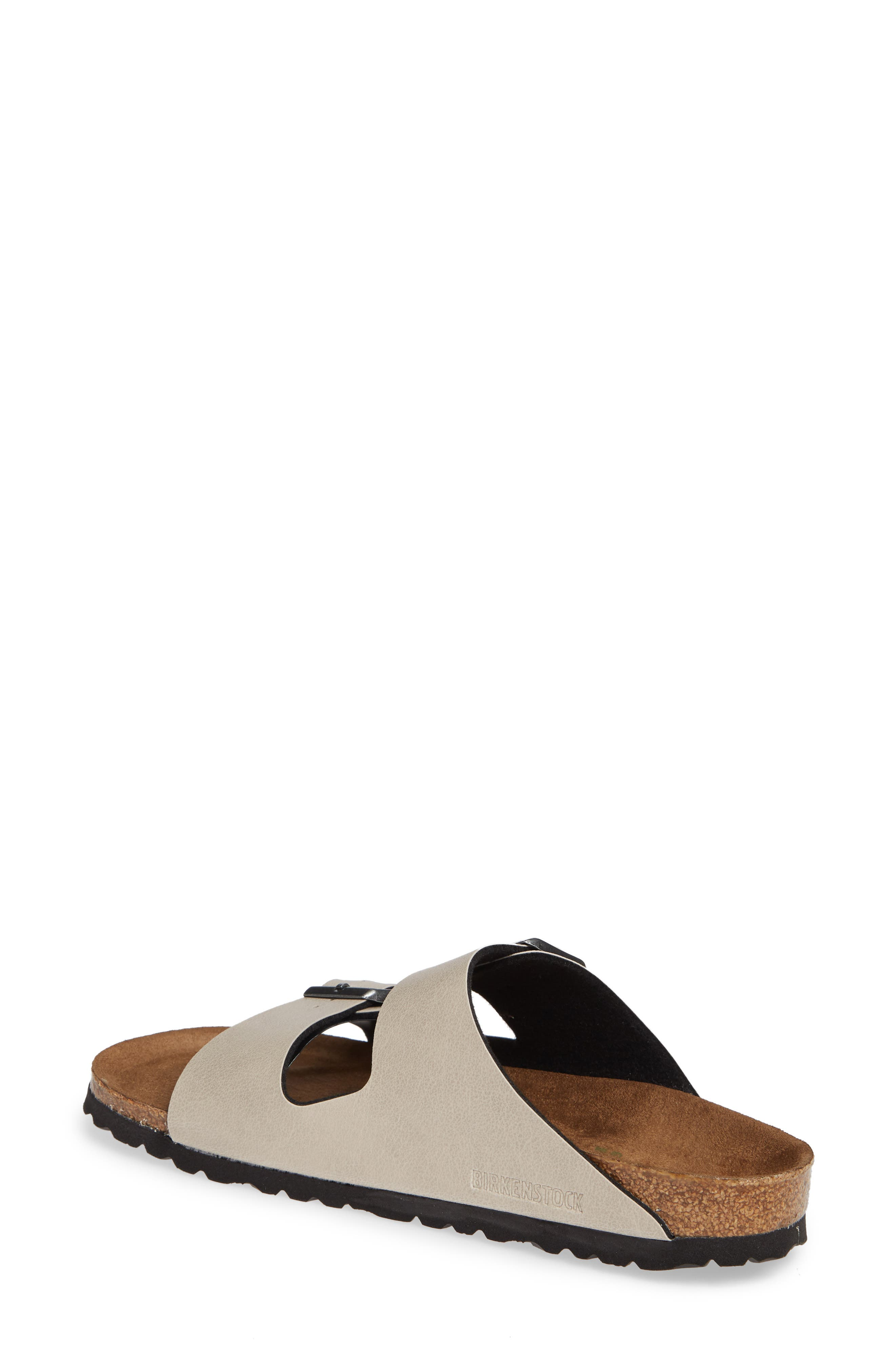 Arizona Birko-Flor<sup>™</sup> Slide Sandal,                             Alternate thumbnail 2, color,                             PULL UP STONE FAUX LEATHER