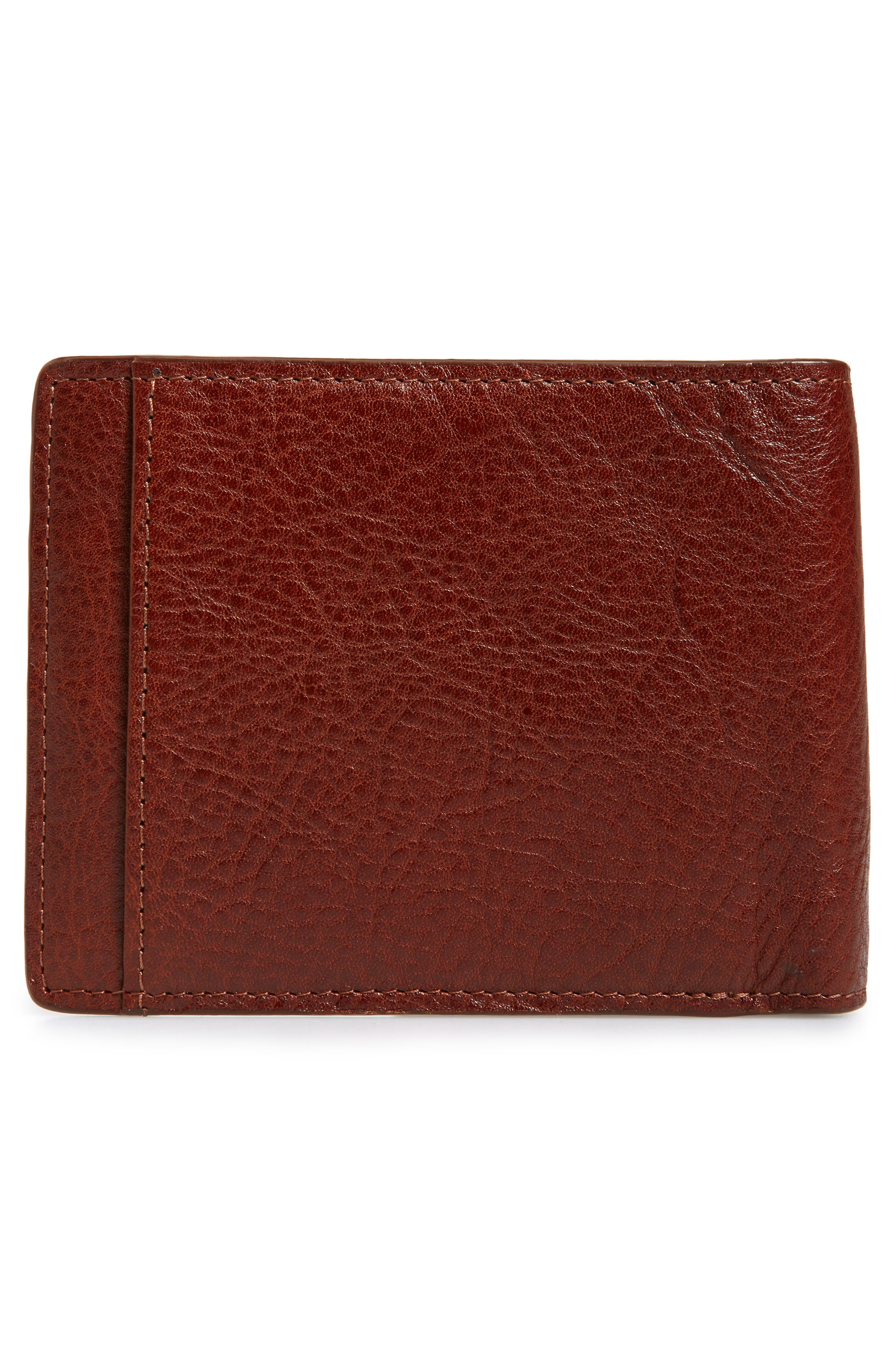 NORDSTROM MEN'S SHOP,                             Richmond Leather Wallet,                             Alternate thumbnail 3, color,                             BROWN HENNA