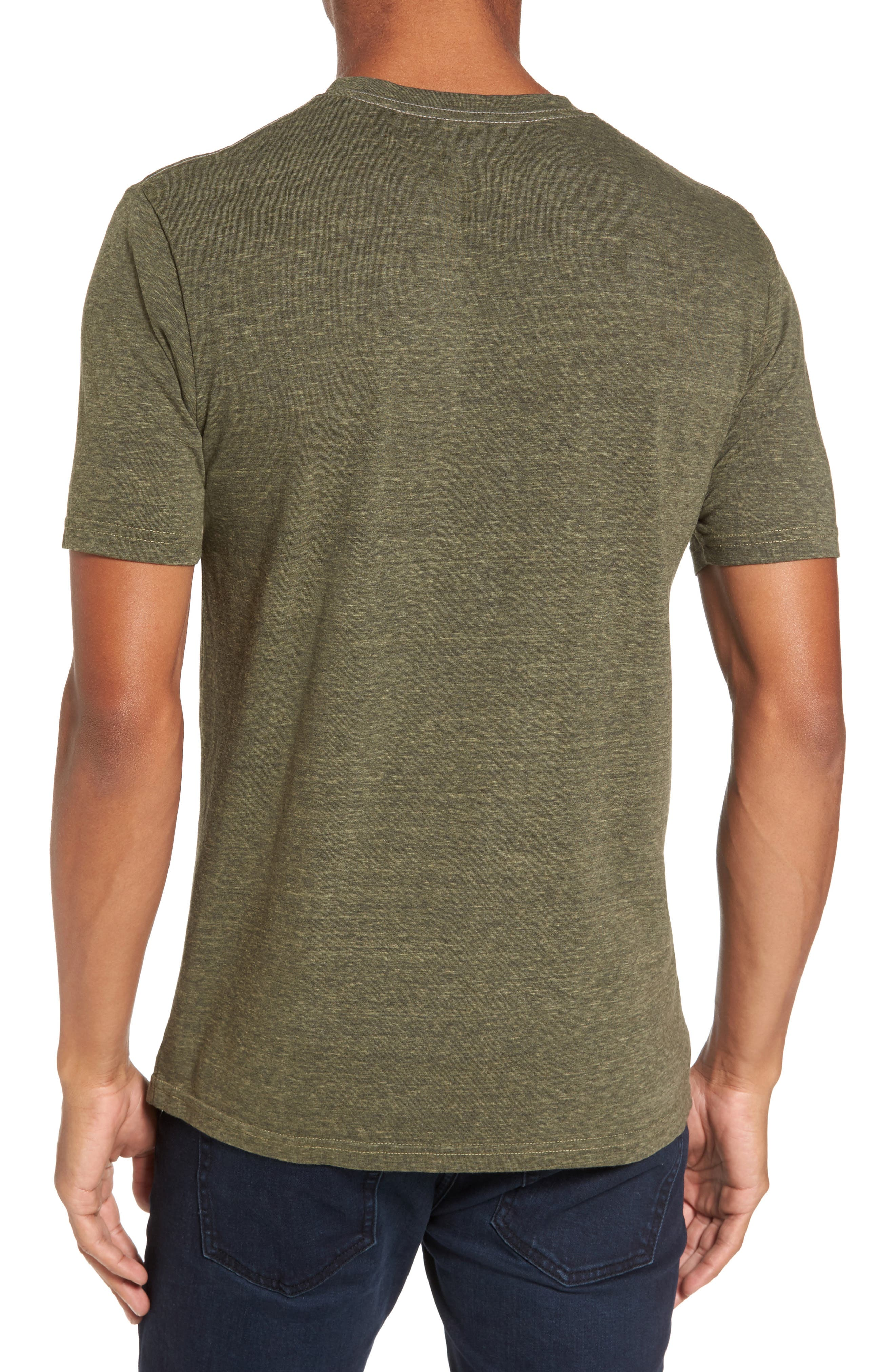 Crewneck Heathered T-Shirt,                             Alternate thumbnail 2, color,                             313