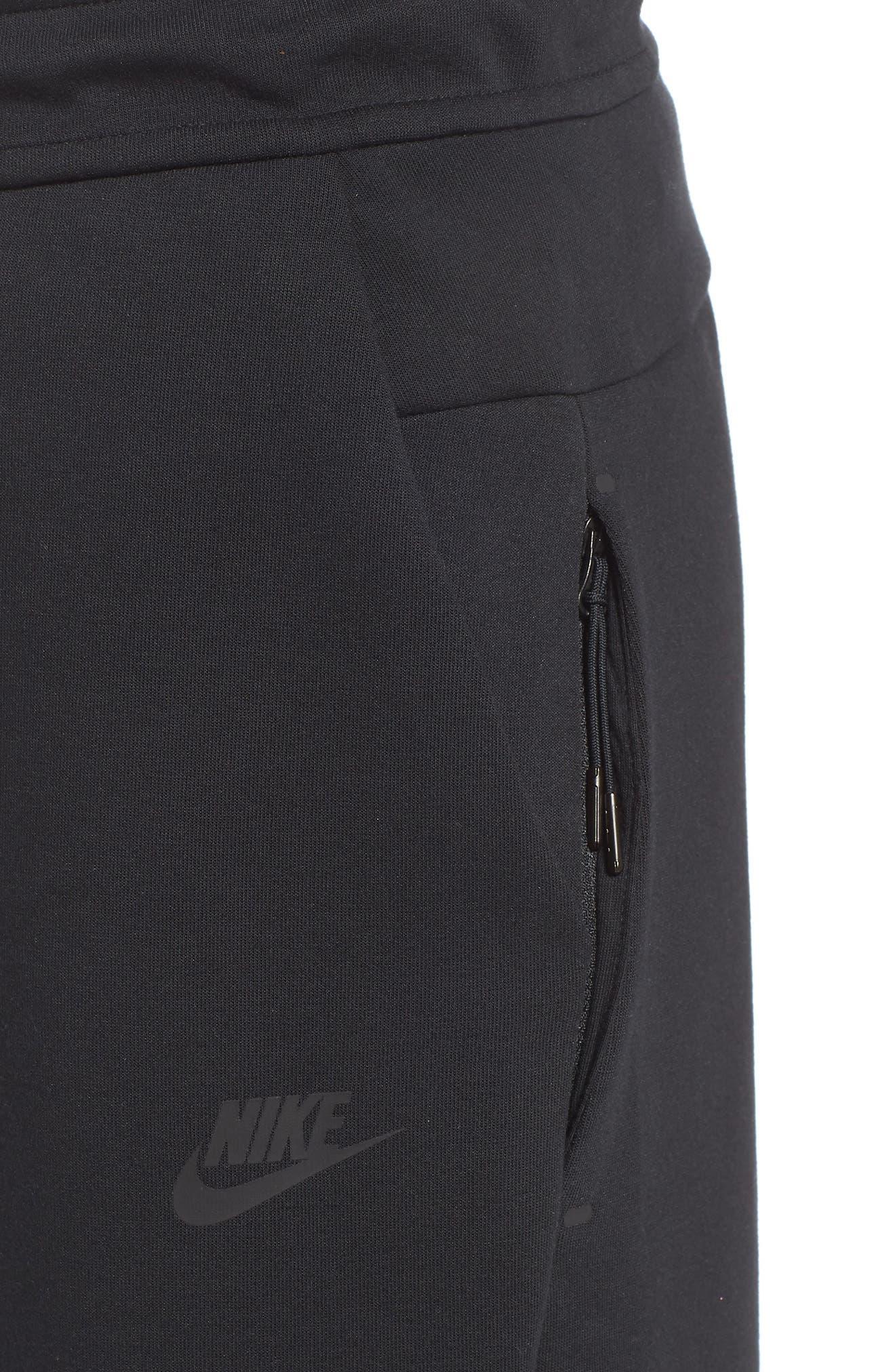 Tech Fleece Pants,                             Alternate thumbnail 4, color,                             BLACK/ BLACK