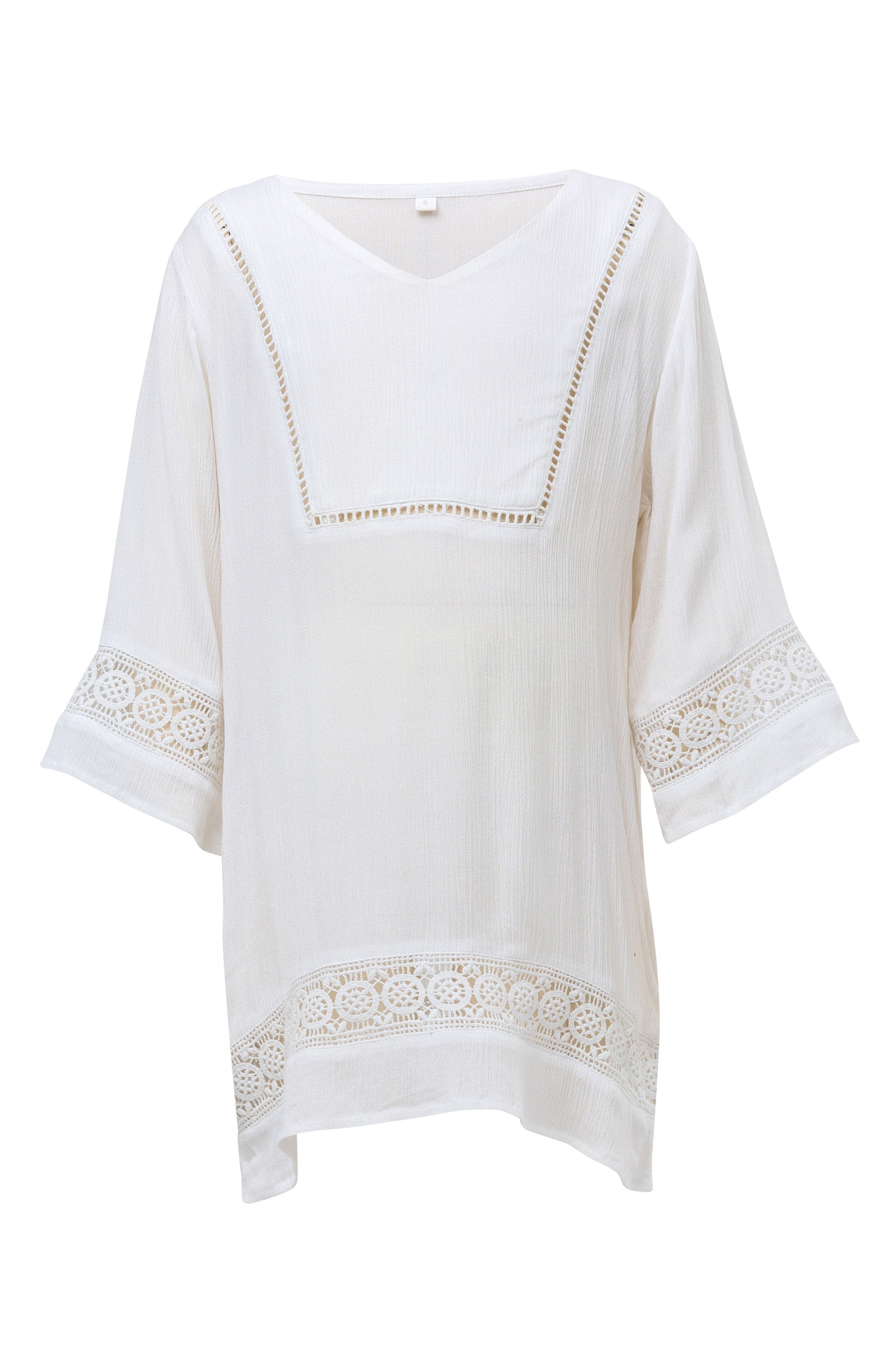 Cover-Up Caftan,                             Main thumbnail 1, color,                             WHITE