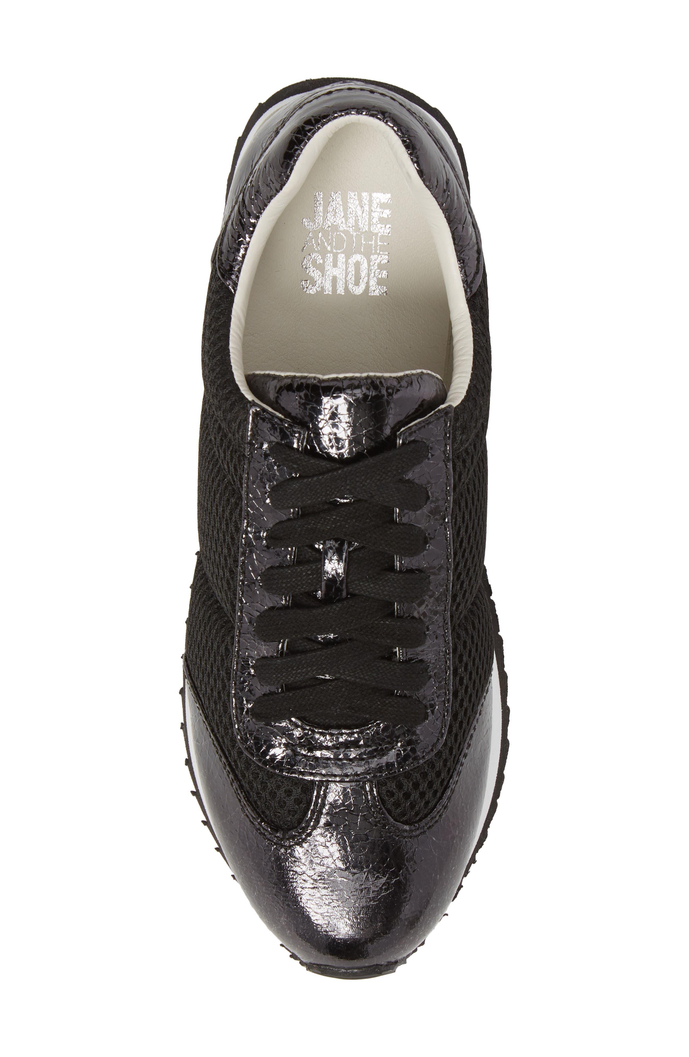 JANE AND THE SHOE,                             Jaclyn Mesh Sneaker,                             Alternate thumbnail 5, color,                             001