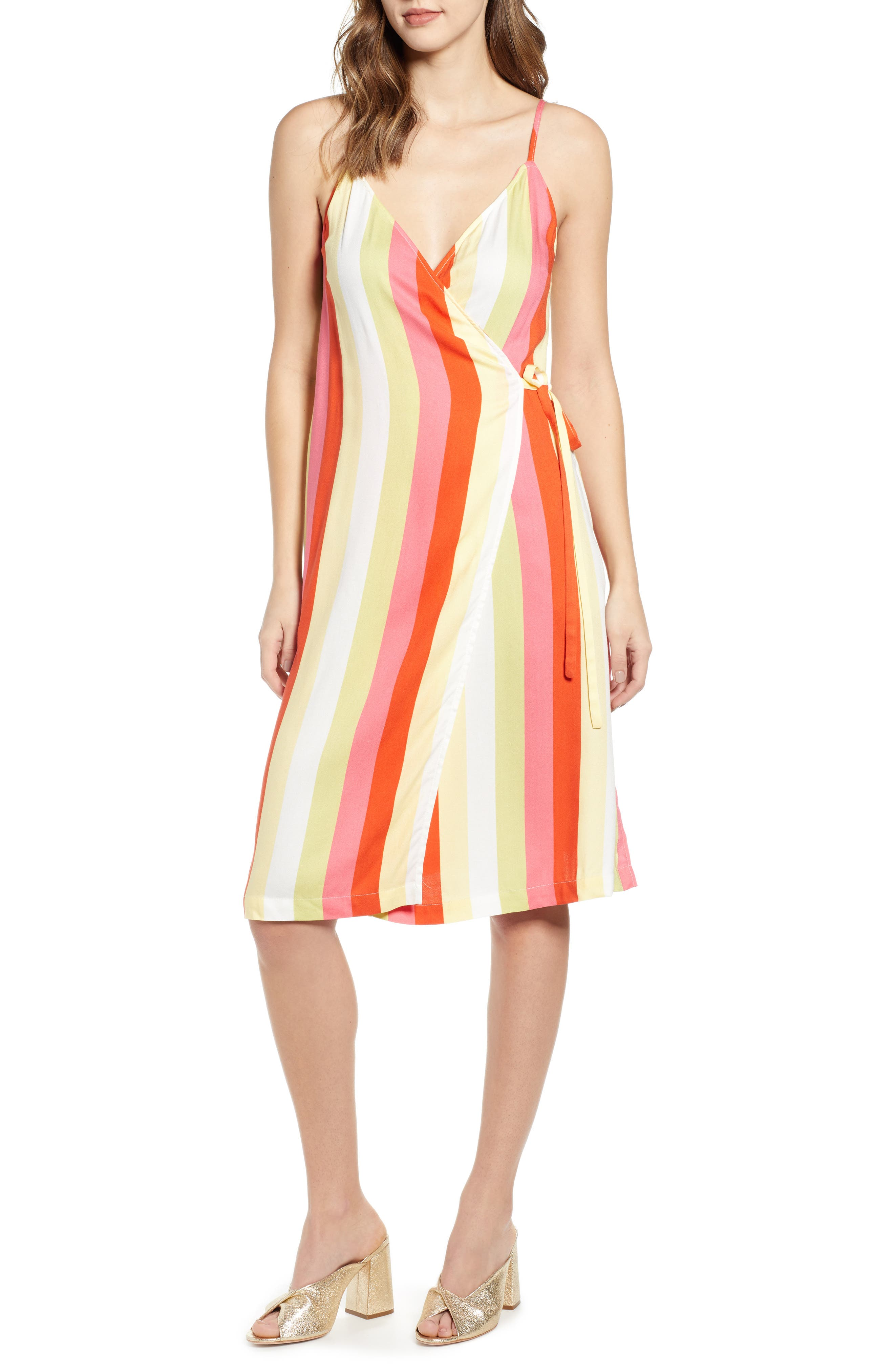 Leith Everyday Wrap Dress, Red