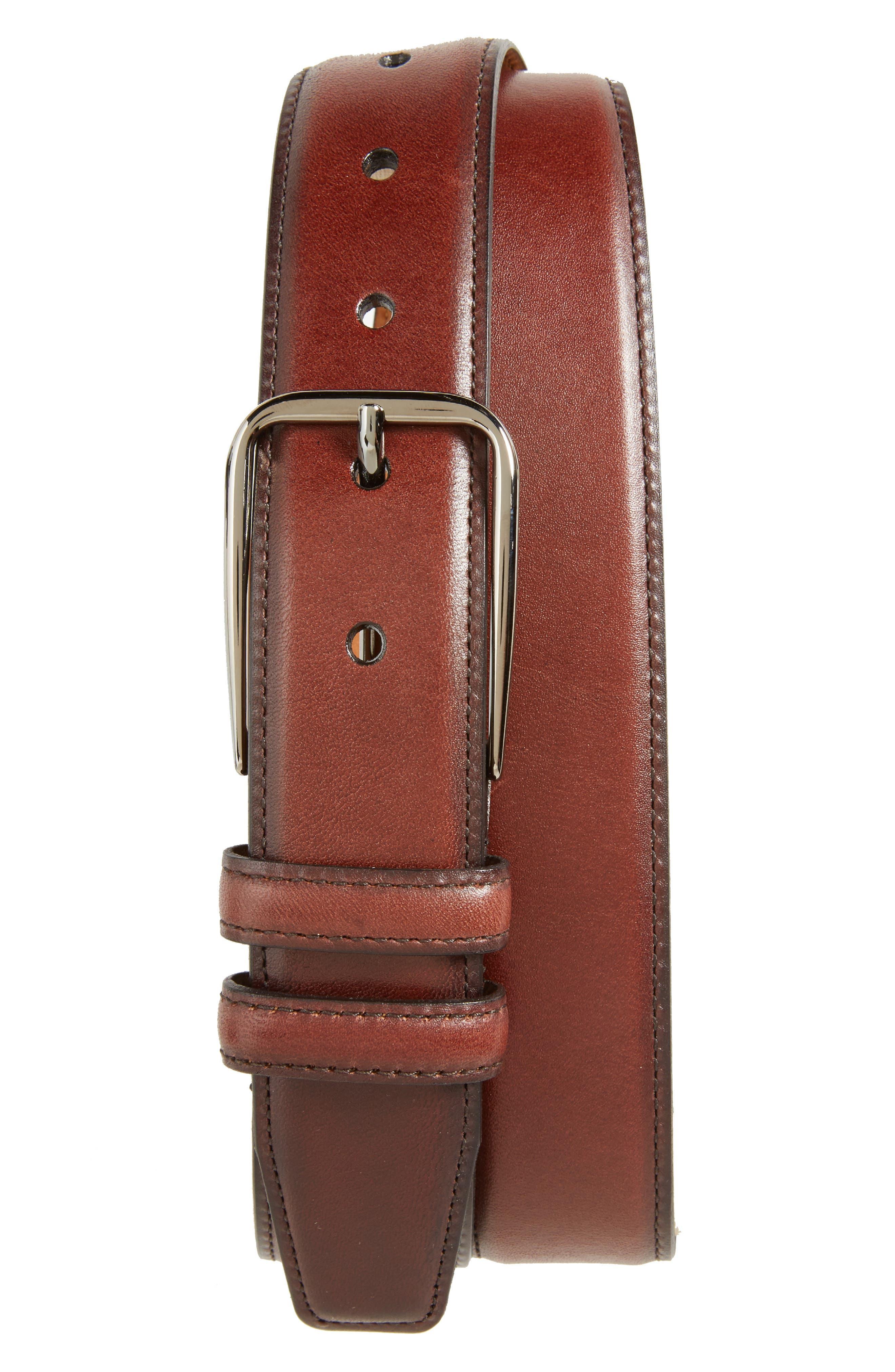 Parker Leather Belt,                             Main thumbnail 3, color,