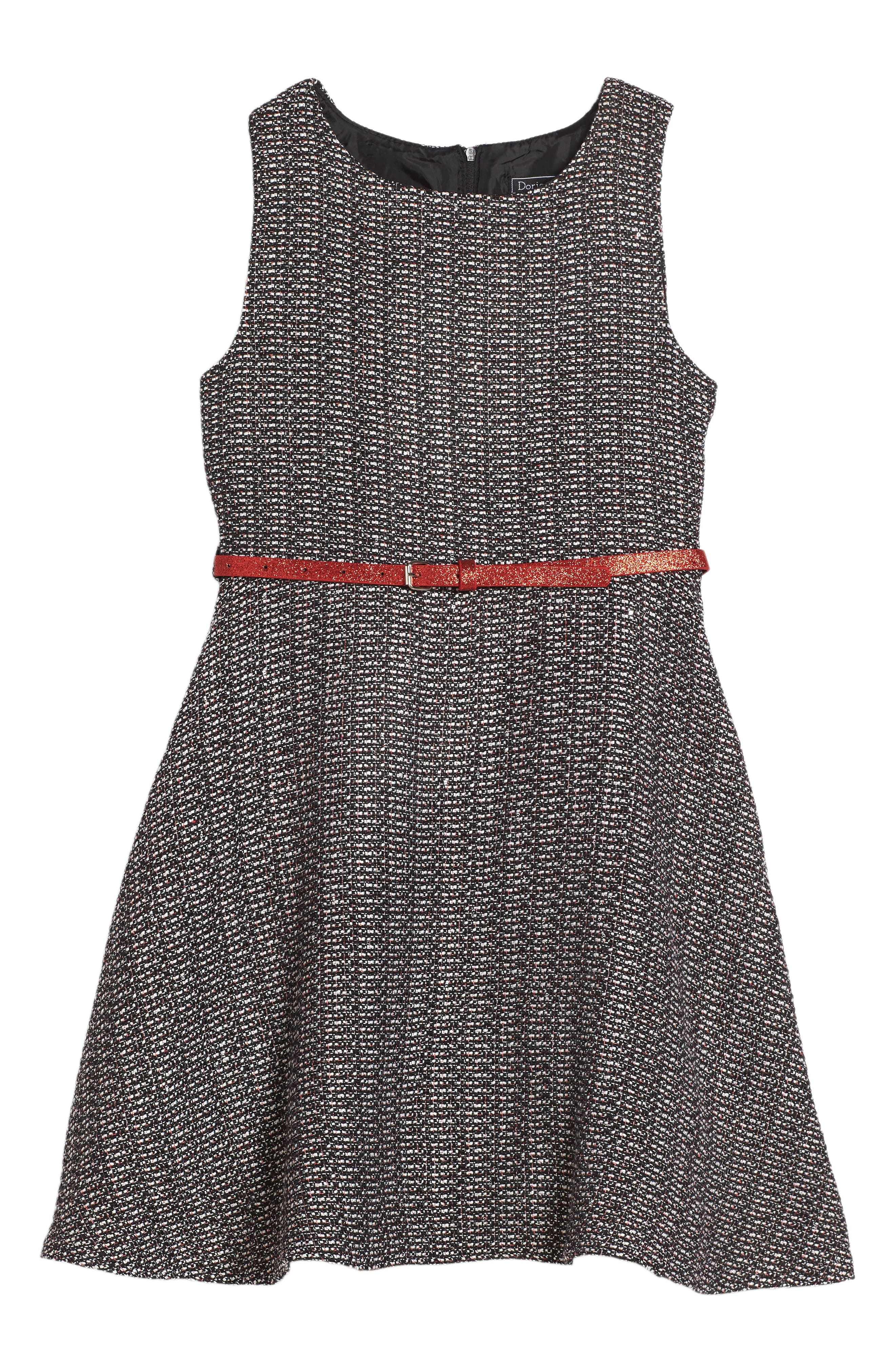 Ella Tweed Dress,                             Main thumbnail 1, color,