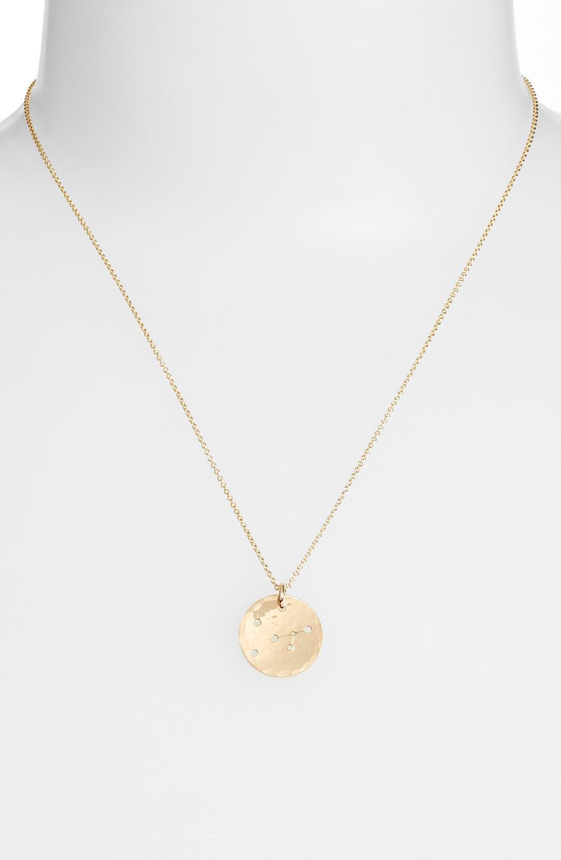Ija 'Small Zodiac' 14k-Gold Fill Necklace,                             Alternate thumbnail 16, color,