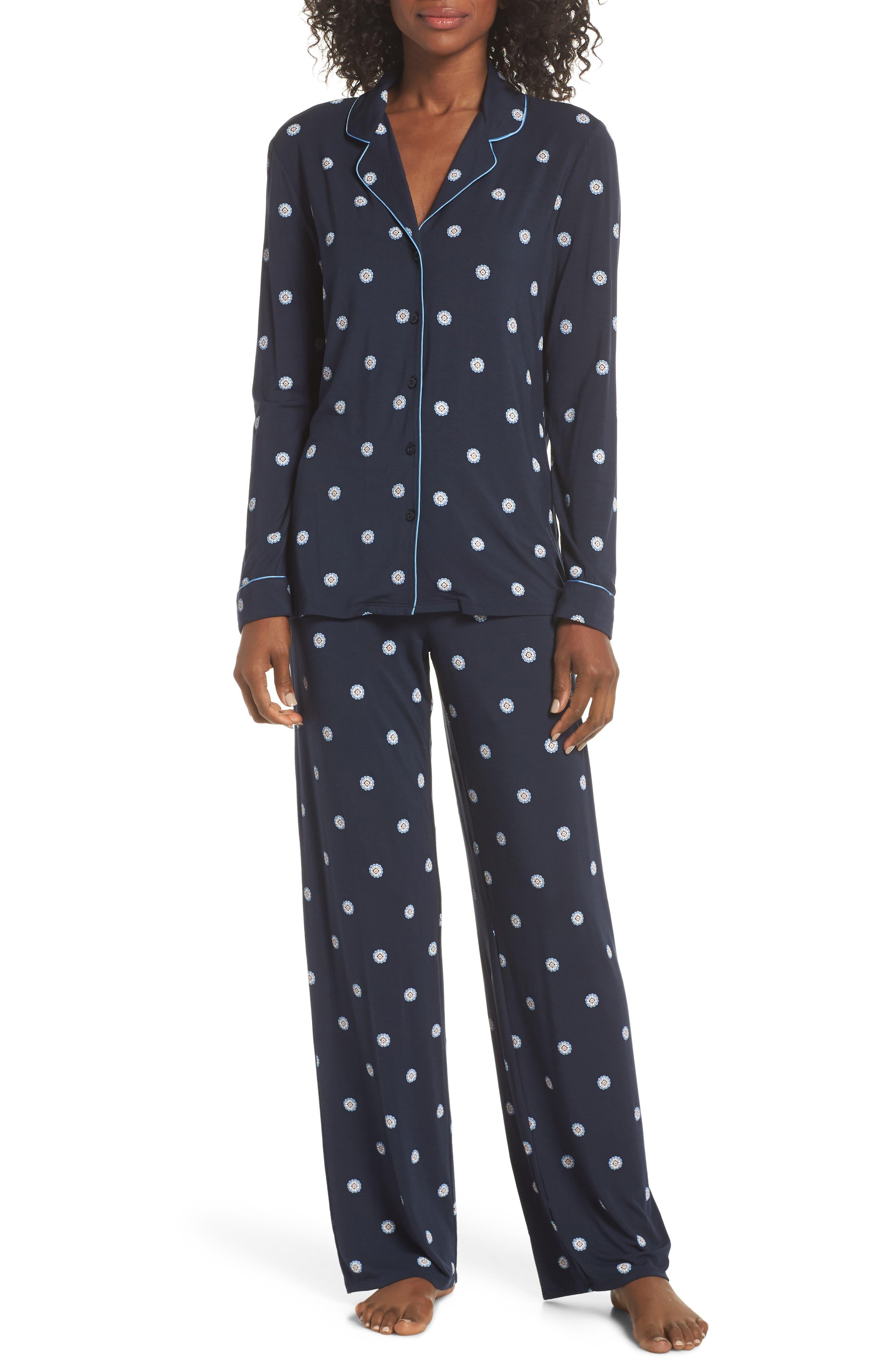 Nordstrom Lingerie Moonlight Pajamas, Blue