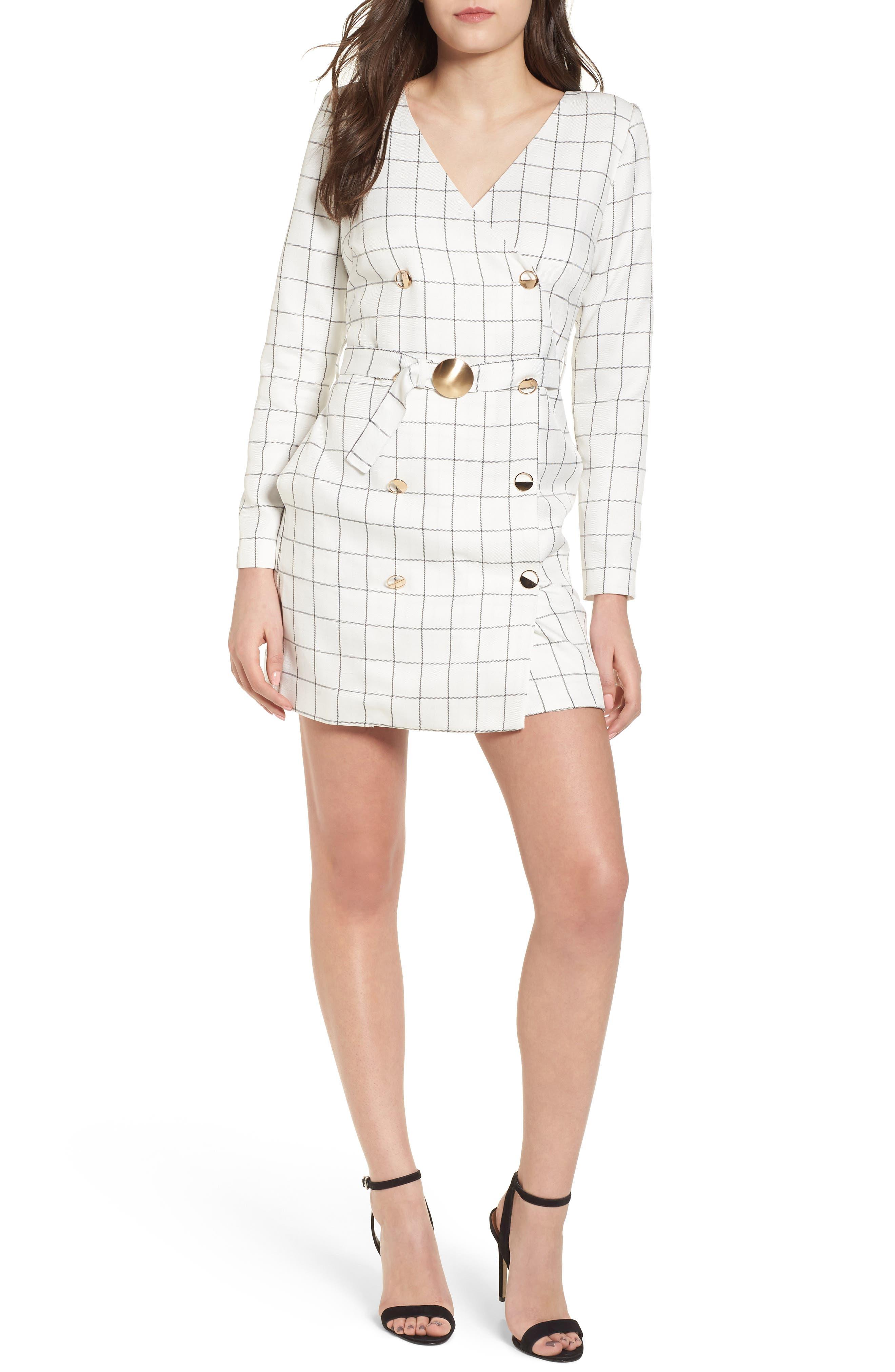 Chriselle x J.O.A. Blazer Minidress,                         Main,                         color, 100