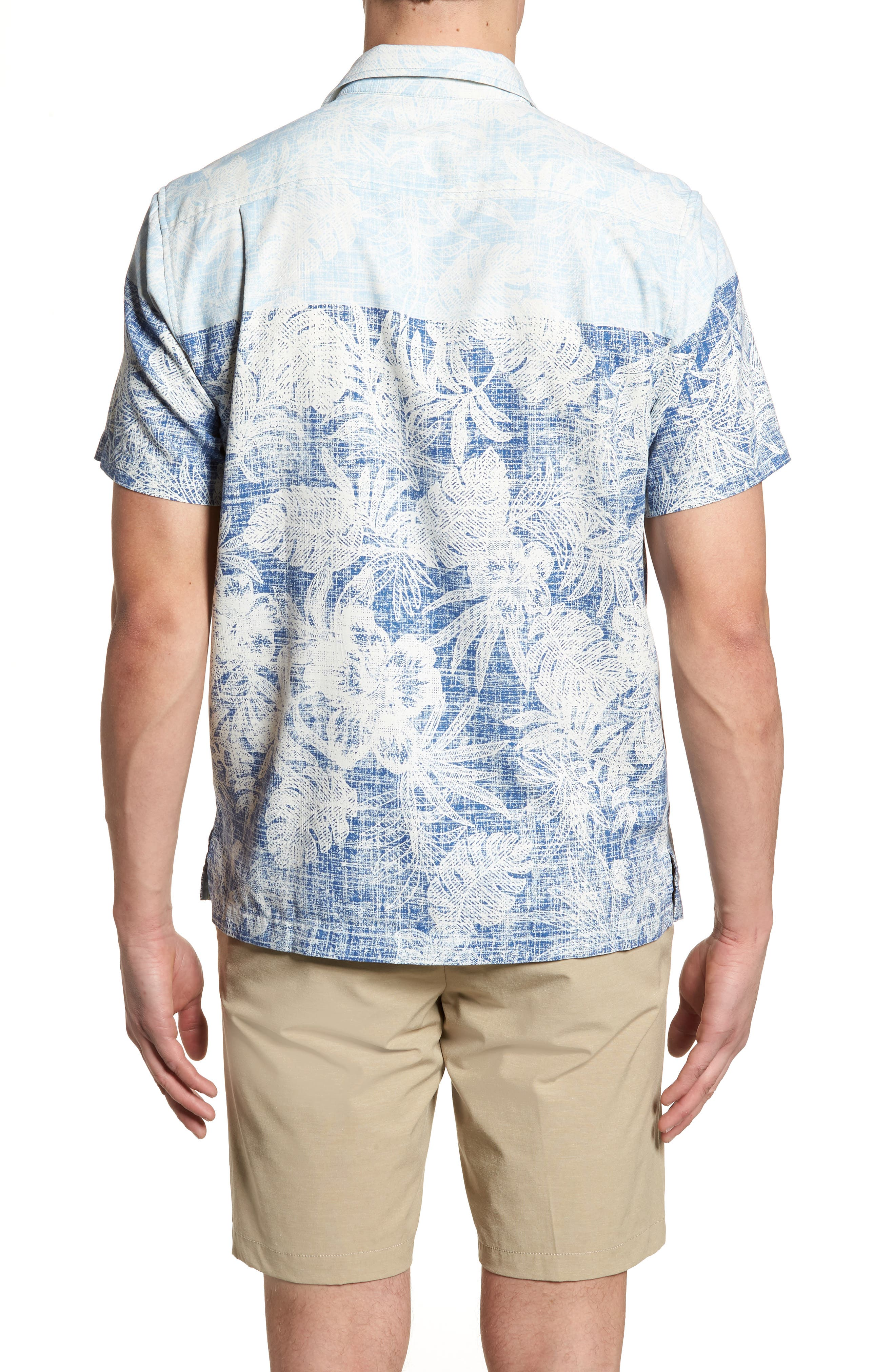 Regular Fit Rising Tides Silk Blend Sport Shirt,                             Alternate thumbnail 2, color,