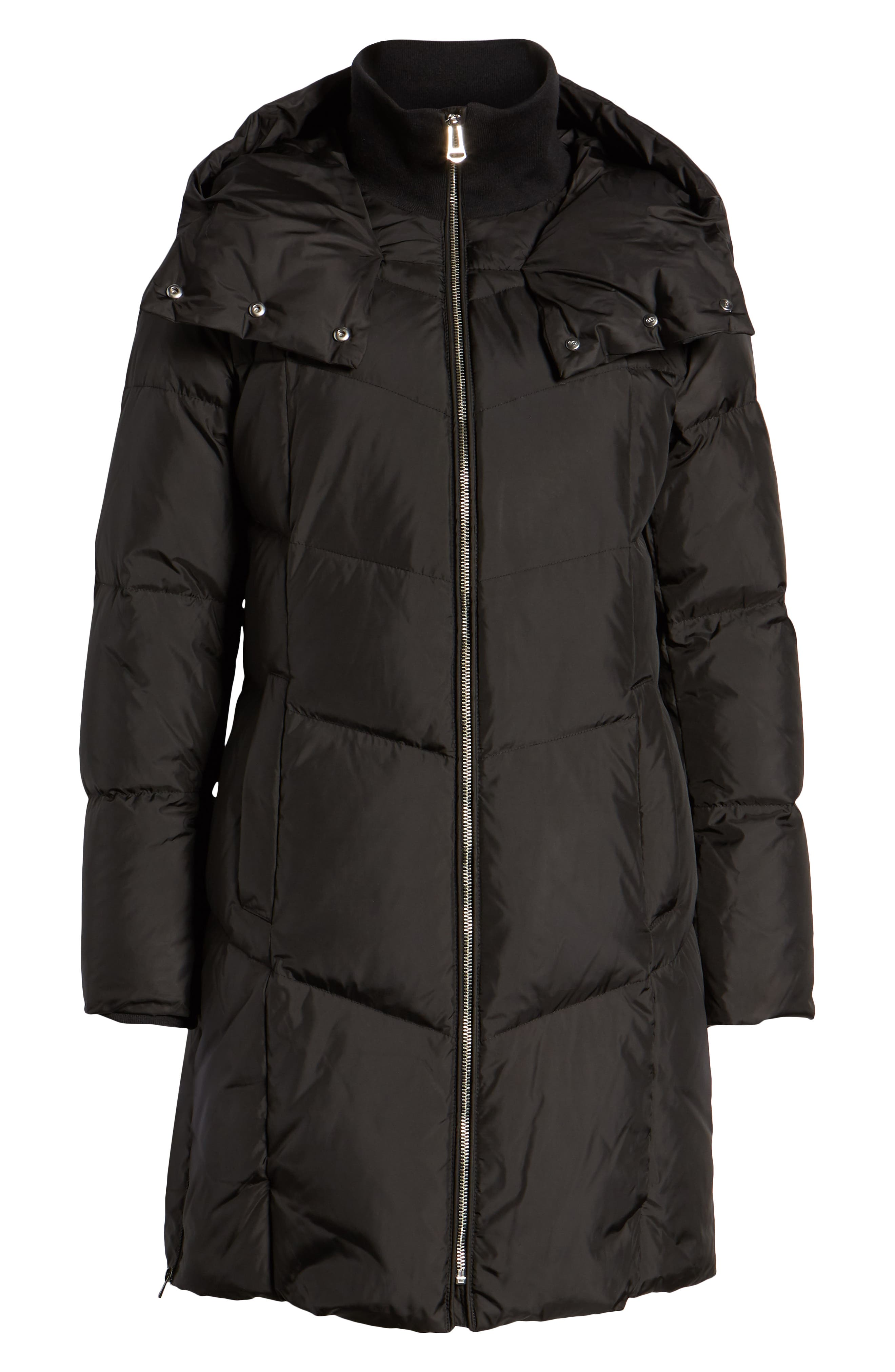 Essential Puffer Coat,                             Alternate thumbnail 6, color,                             BLACK