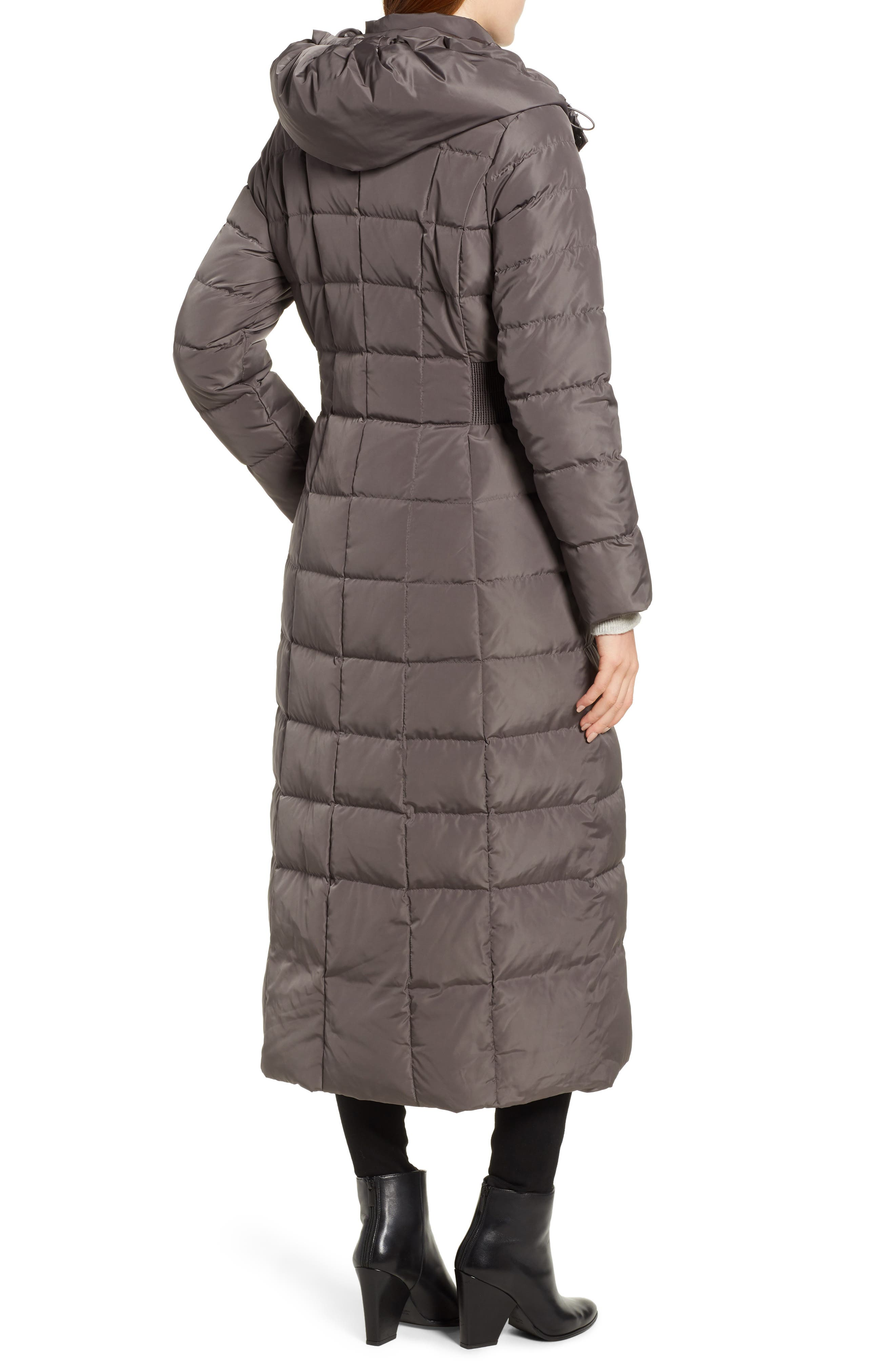 Cole Haan Quilted Coat with Inner Bib,                             Alternate thumbnail 2, color,                             024