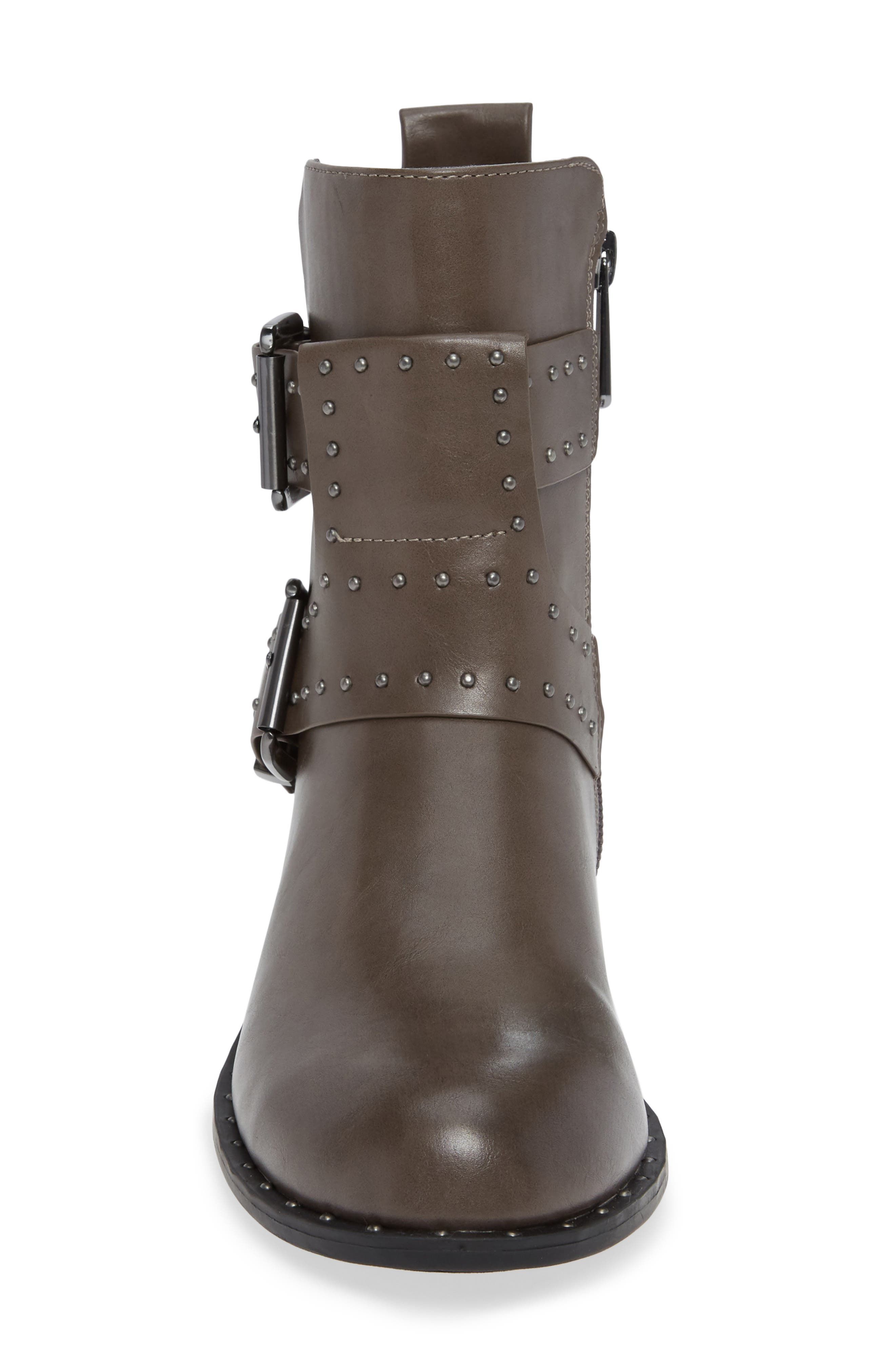 Tupper Moto Boot,                             Alternate thumbnail 4, color,                             CHARCOAL SYNTHETIC