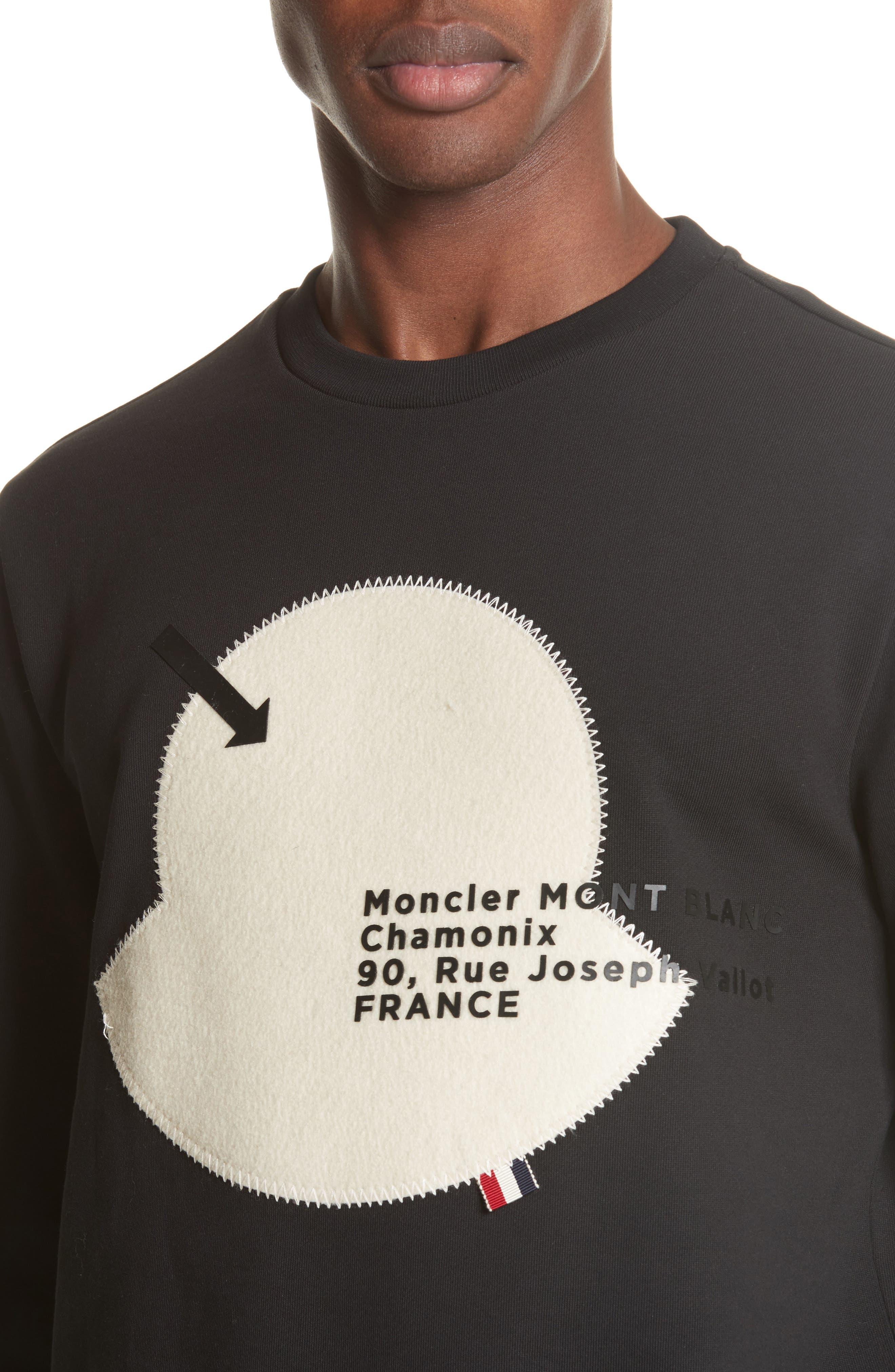 Maglia Big Bell Crewneck Sweatshirt,                             Alternate thumbnail 4, color,                             BLACK