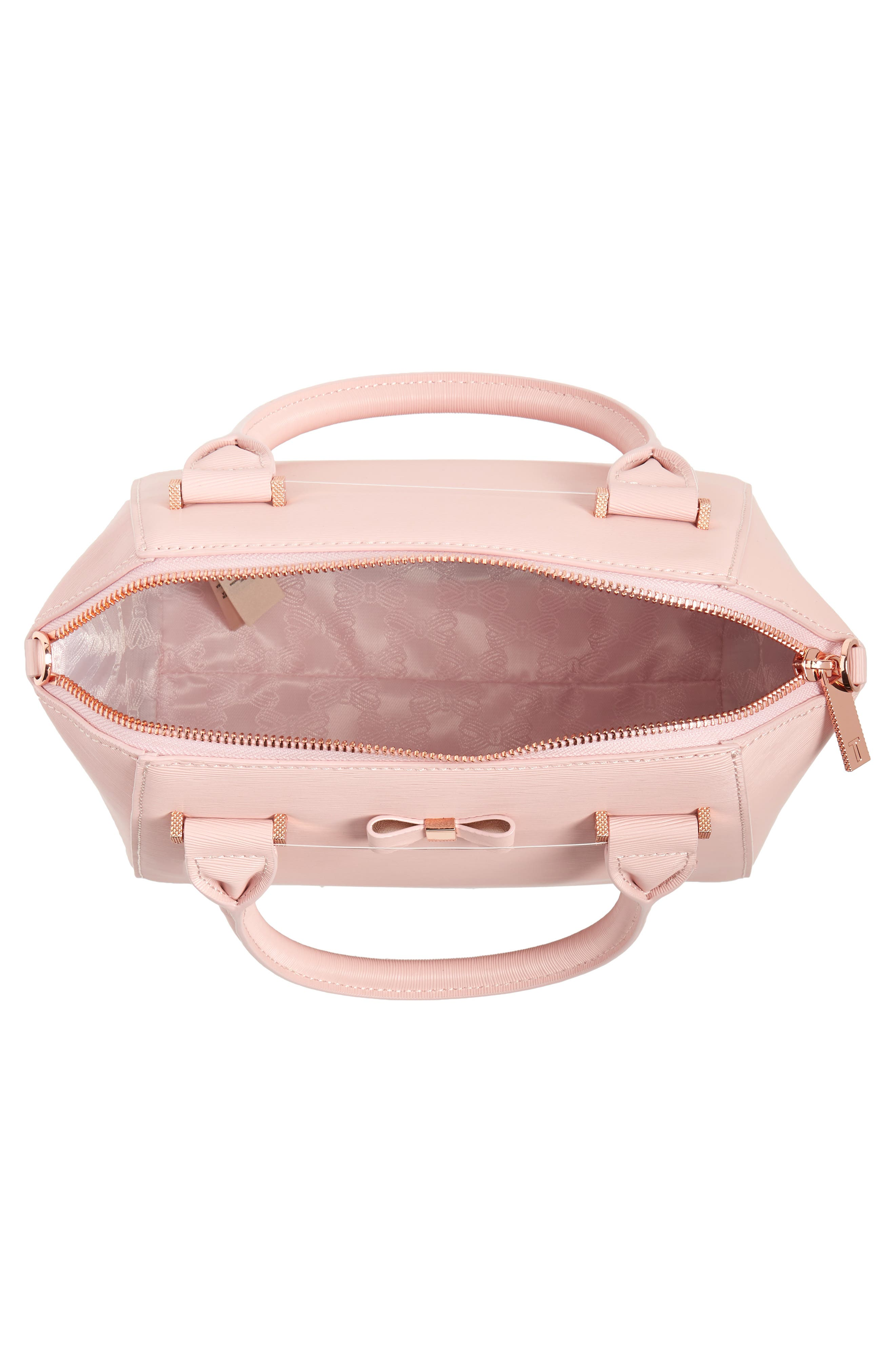 Bow Tote,                             Alternate thumbnail 4, color,                             LIGHT PINK