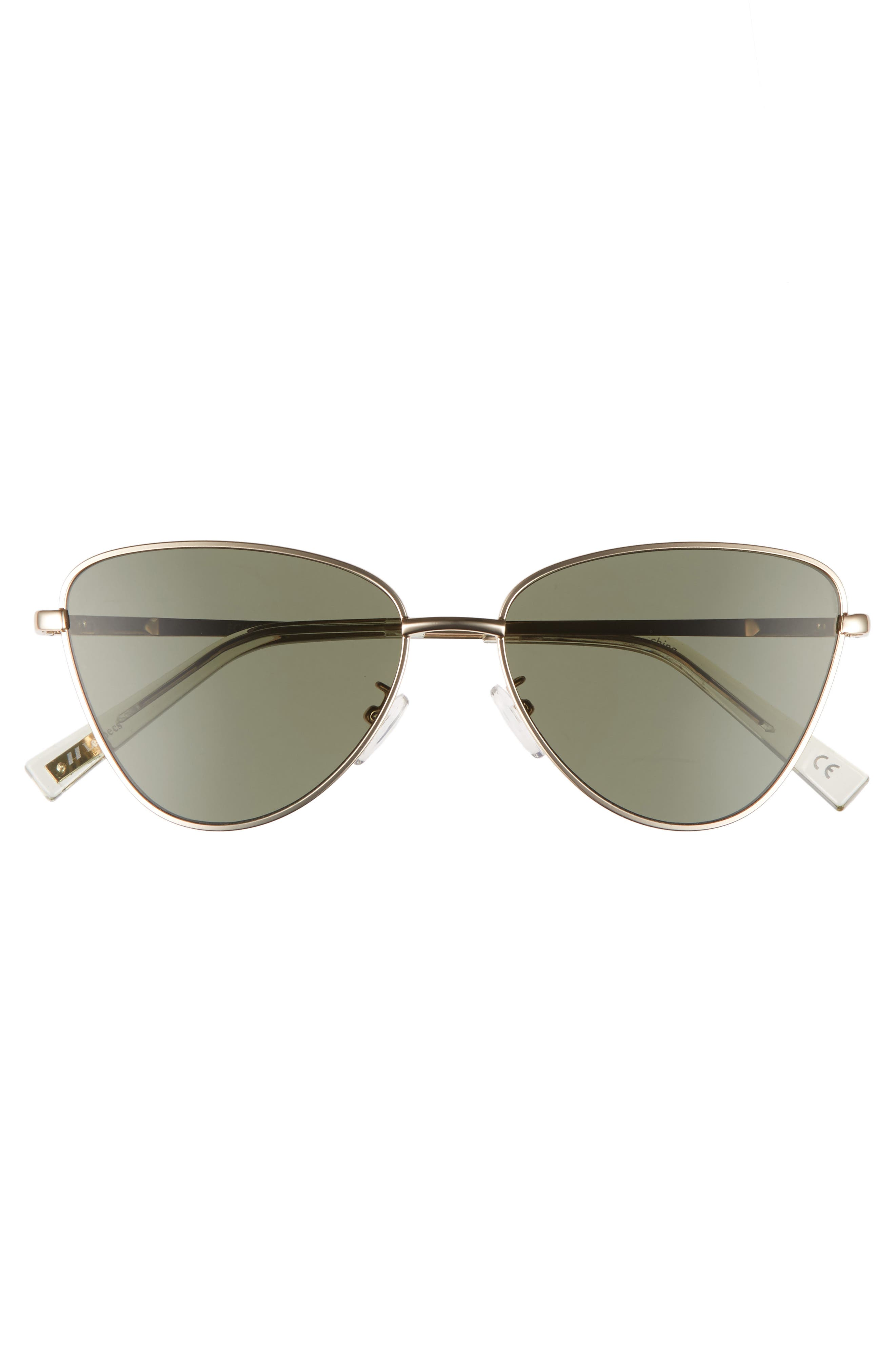 Echo 50mm Butterfly Sunglasses,                             Alternate thumbnail 3, color,                             MATTE GOLD