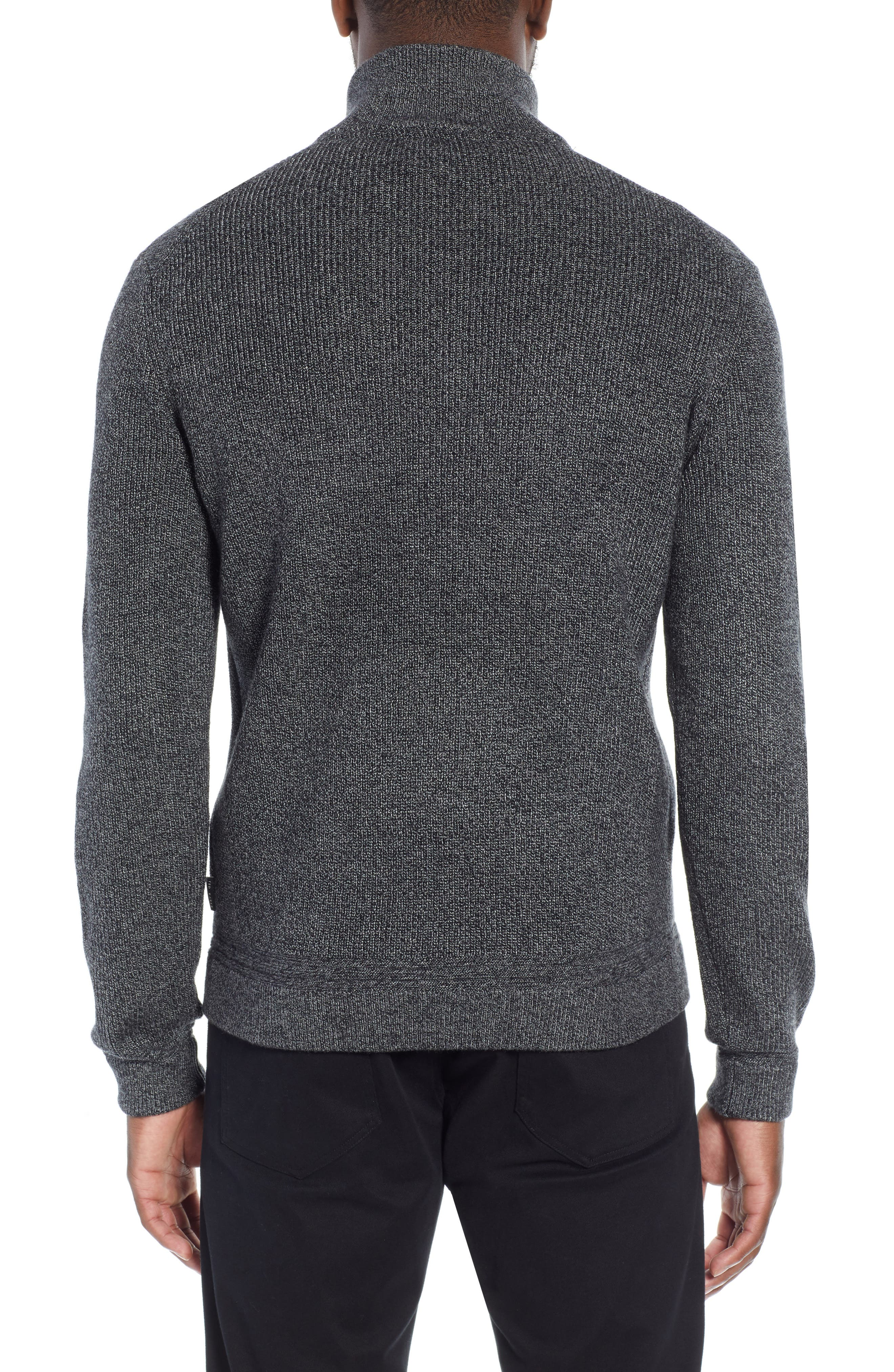 Lohas Slim Fit Funnel Neck Sweater,                             Alternate thumbnail 2, color,                             CHARCOAL