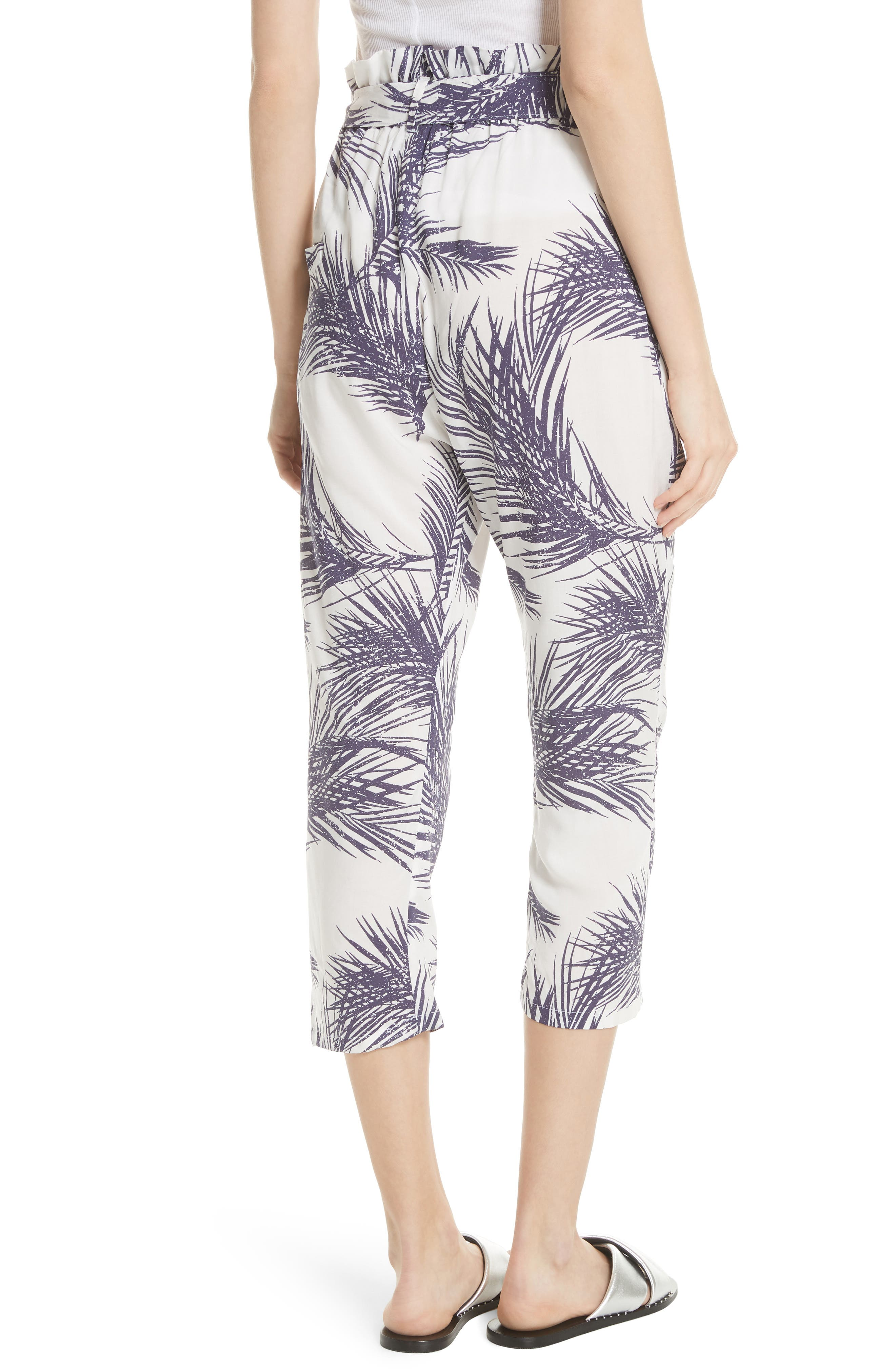 Surf Print Paperbag Pants,                             Alternate thumbnail 2, color,