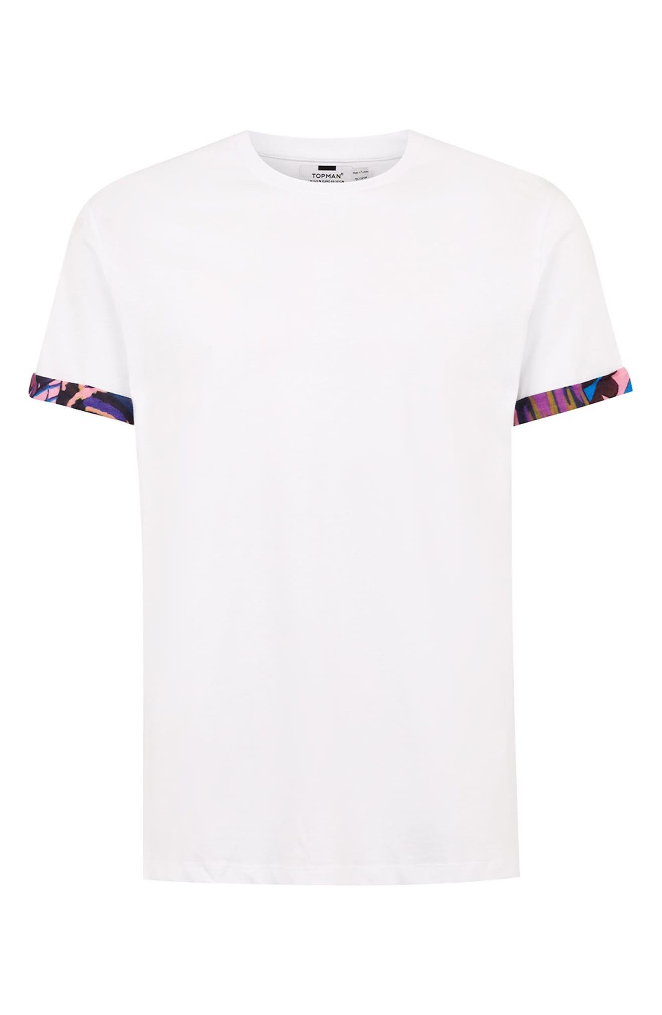 Mosaic Roller T-Shirt,                             Alternate thumbnail 4, color,                             WHITE MULTI