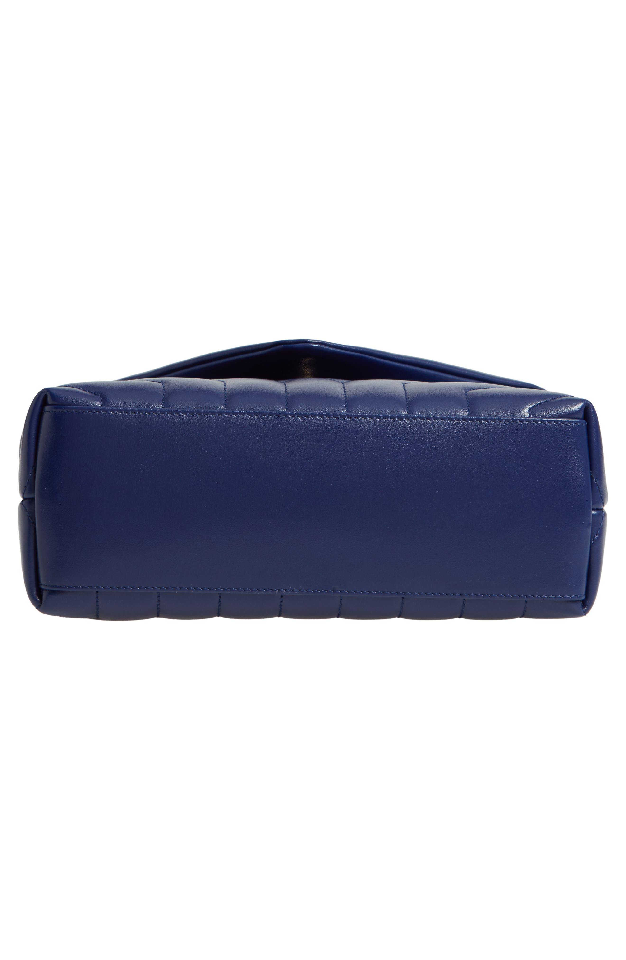 Small Loulou Leather Shoulder Bag,                             Alternate thumbnail 6, color,                             SAPHIR