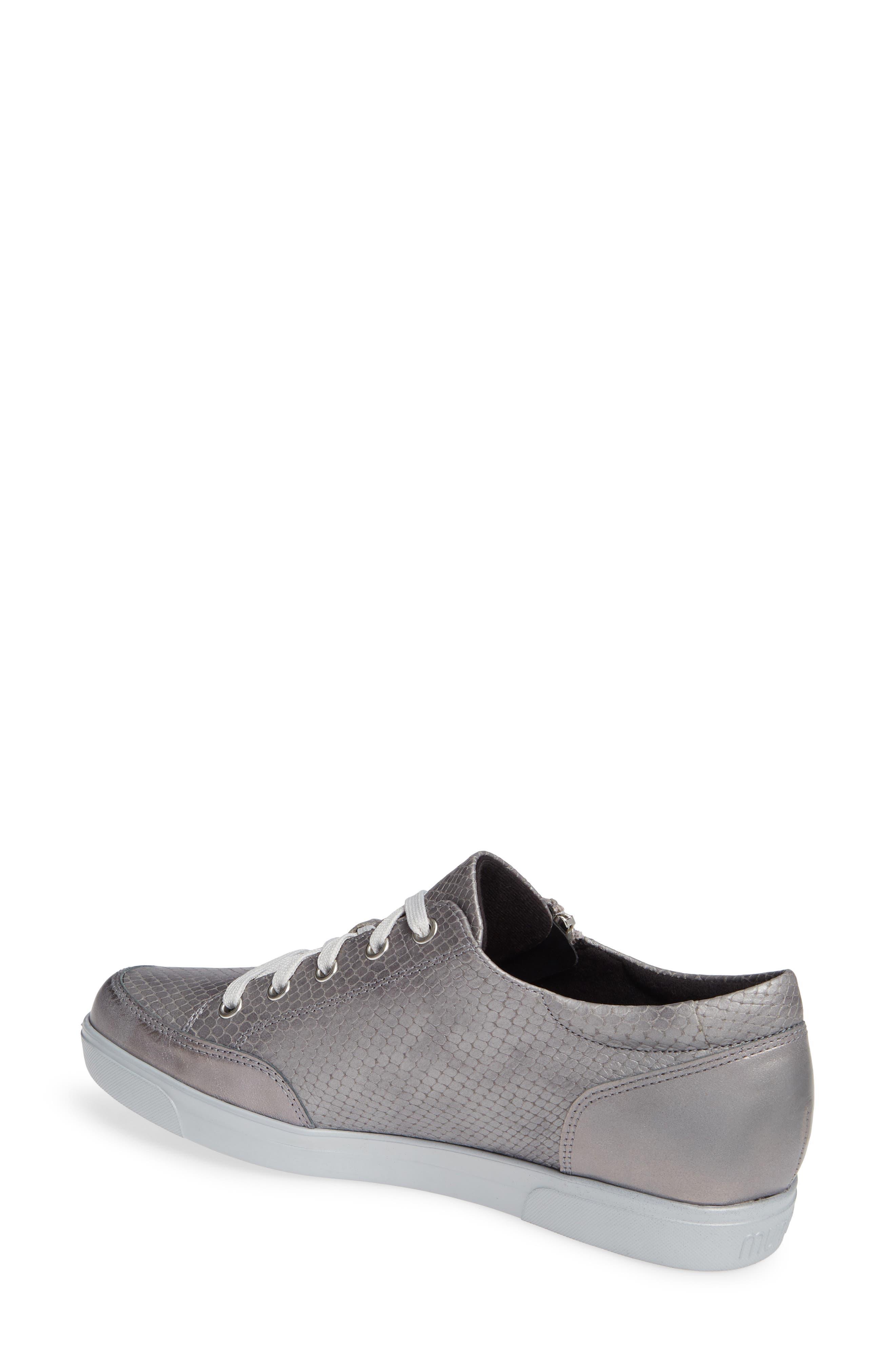 Gabbie Sneaker,                             Alternate thumbnail 2, color,                             LIGHT GREY LEATHER