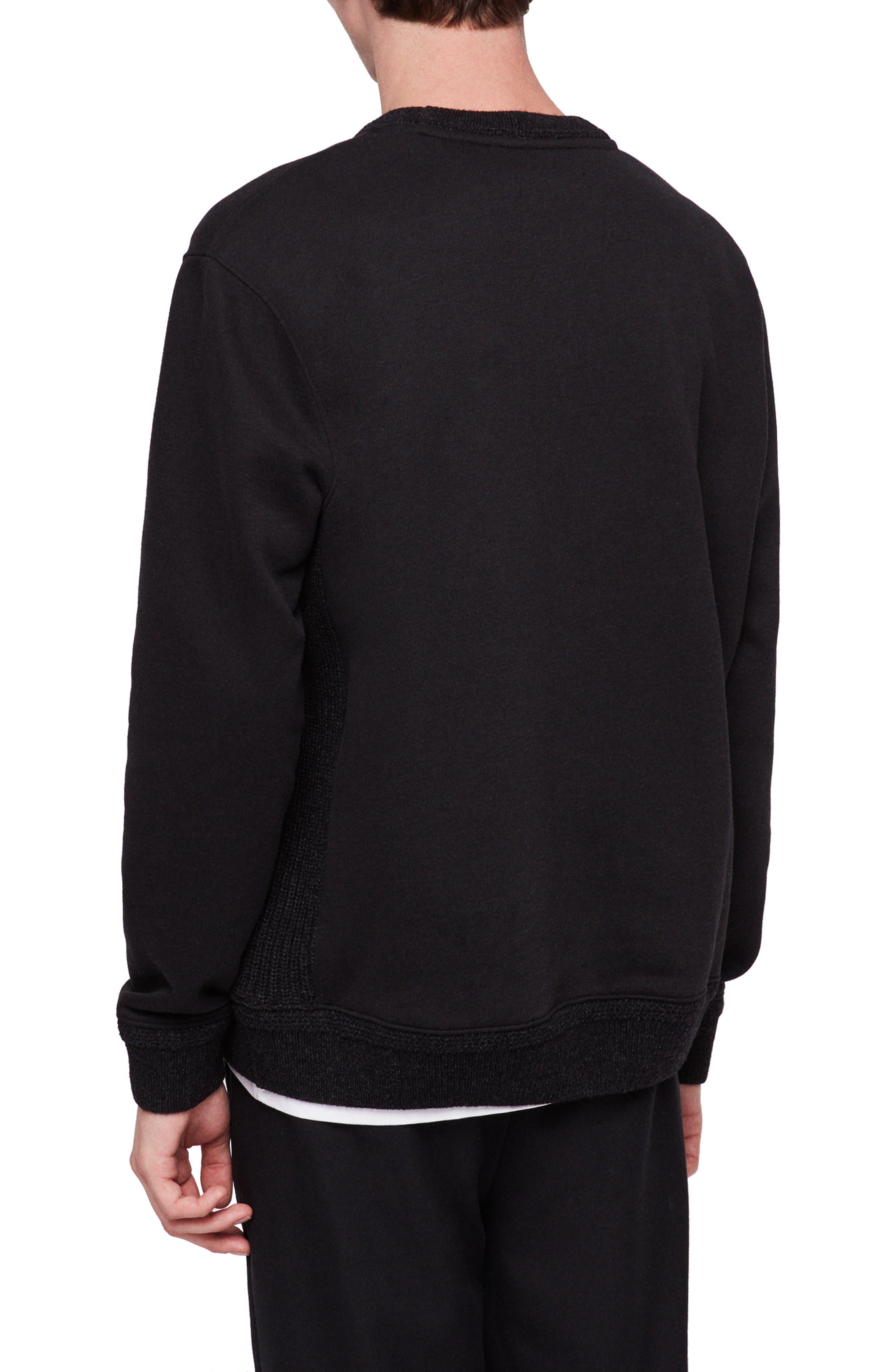 Senior Crewneck Regular Fit Sweatshirt,                             Alternate thumbnail 2, color,                             JET BLACK