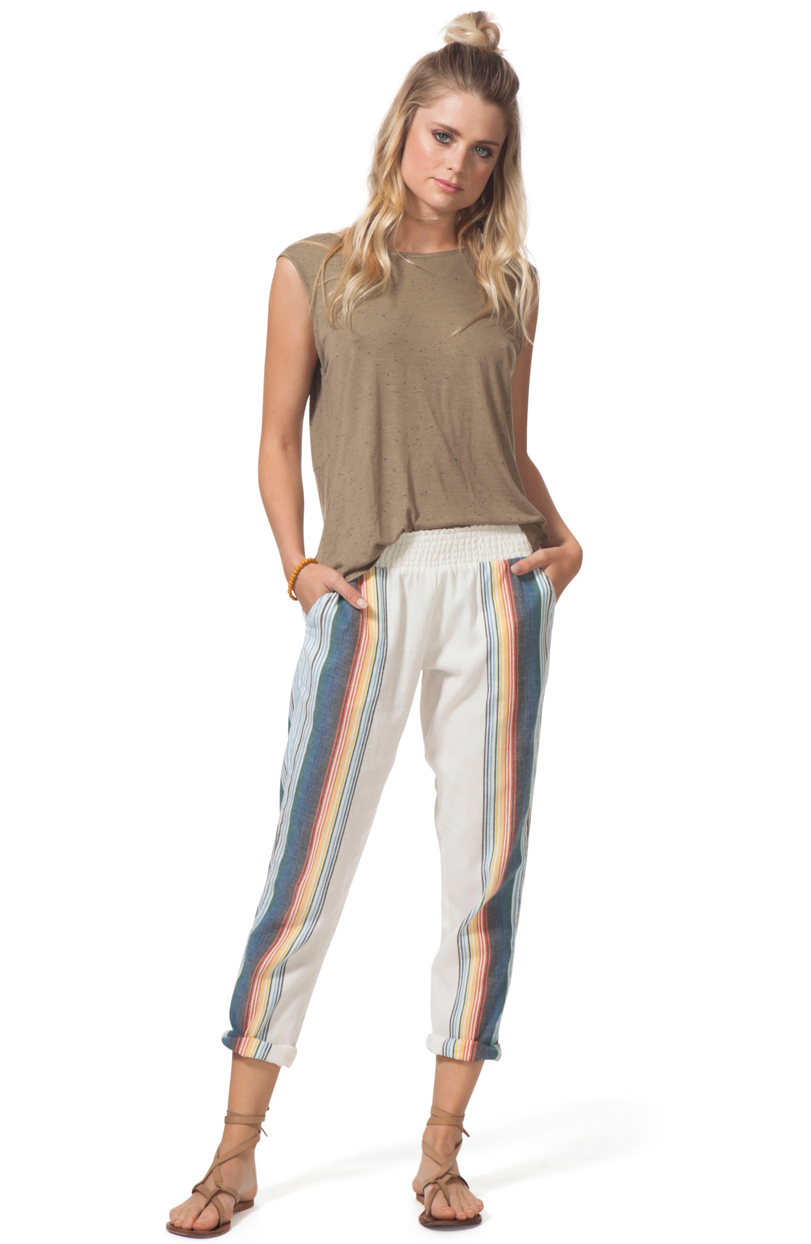 Beach Bazaar Pants,                             Alternate thumbnail 4, color,                             VANILLA