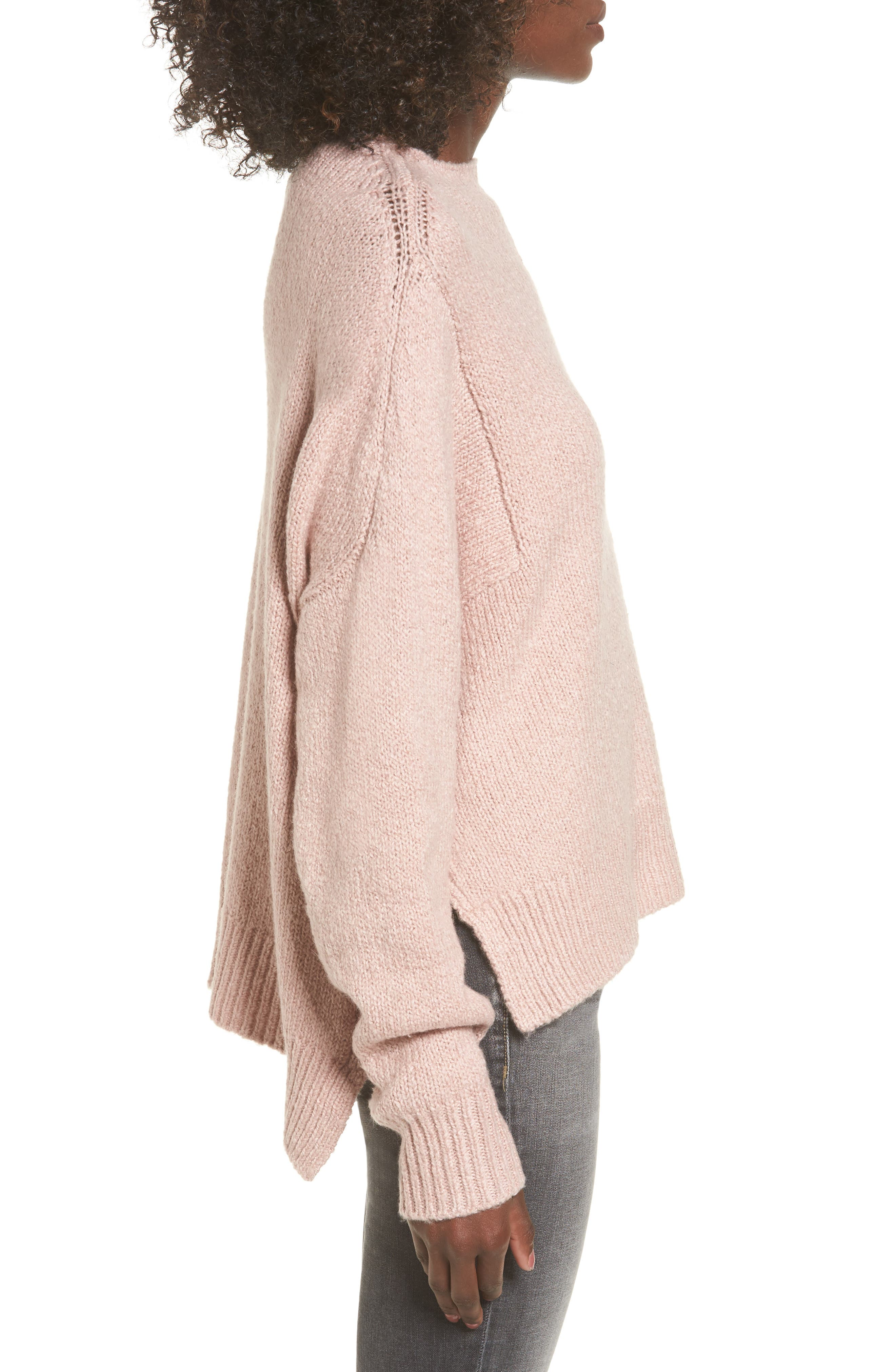 Fuzzy Side Slit Sweater,                             Alternate thumbnail 9, color,