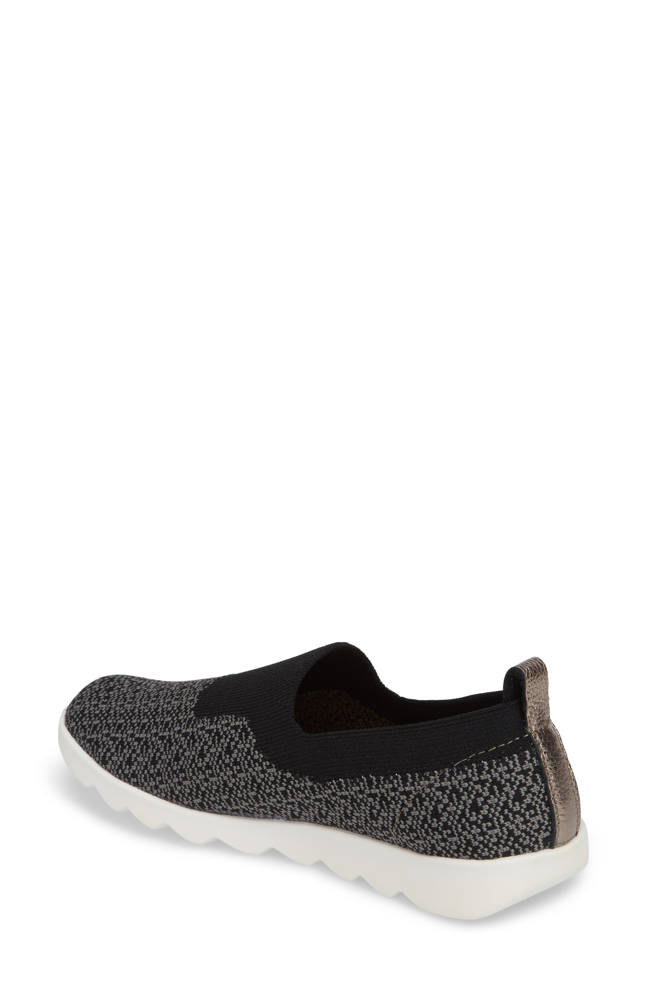 COMFORTIVA,                             Ginger Sock Fit Sneaker,                             Alternate thumbnail 2, color,                             BLACK FABRIC
