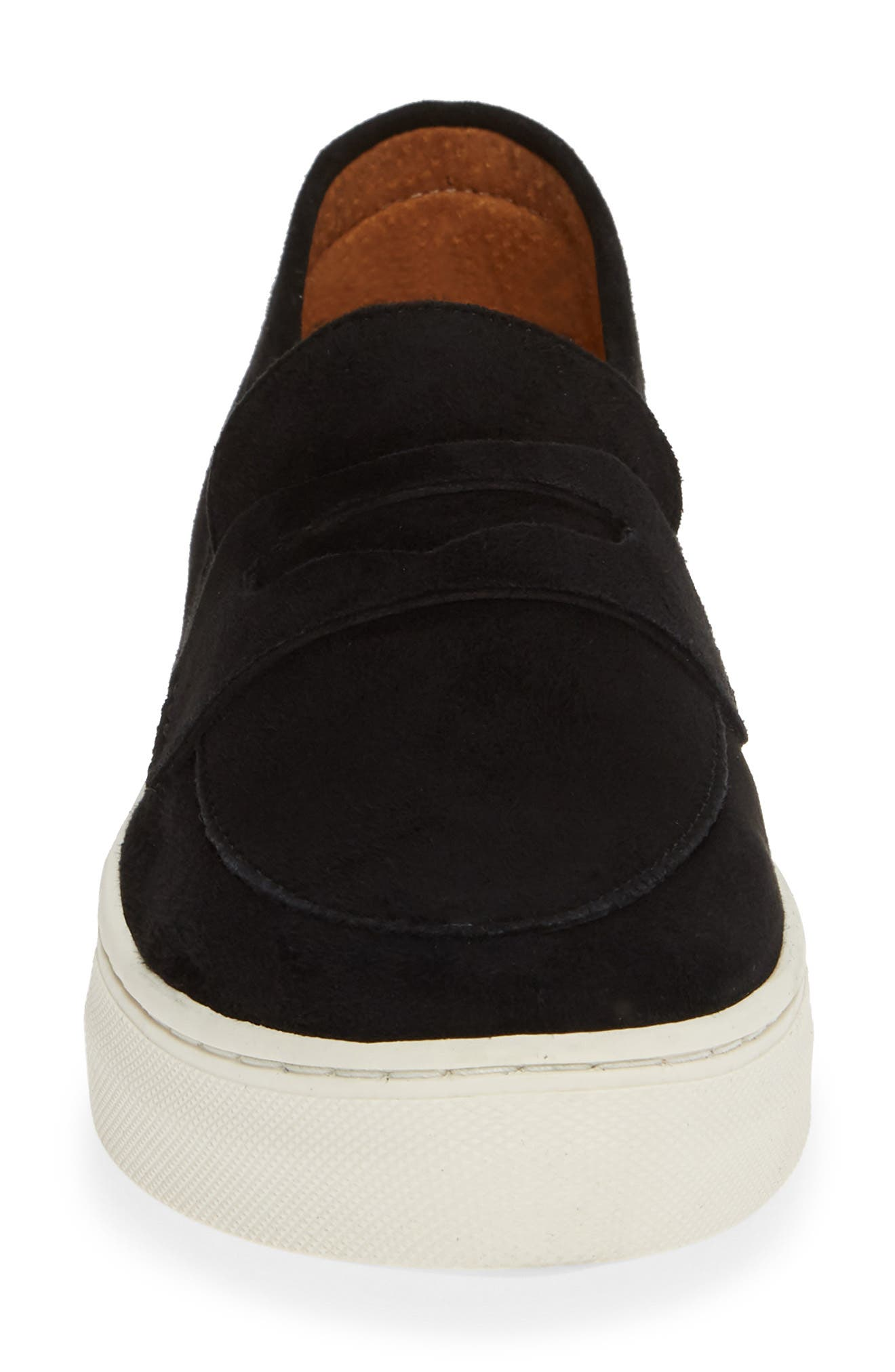 SEYCHELLES,                             Polar Desert Slip-On Sneaker,                             Alternate thumbnail 4, color,                             BLACK SUEDE