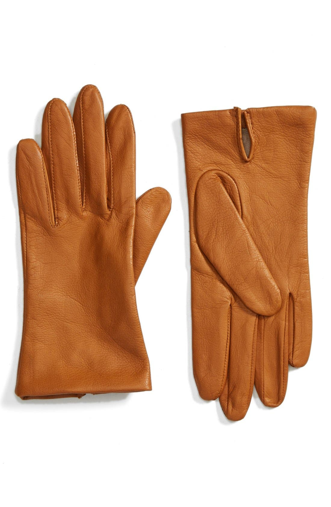 Short Leather Gloves,                             Main thumbnail 2, color,