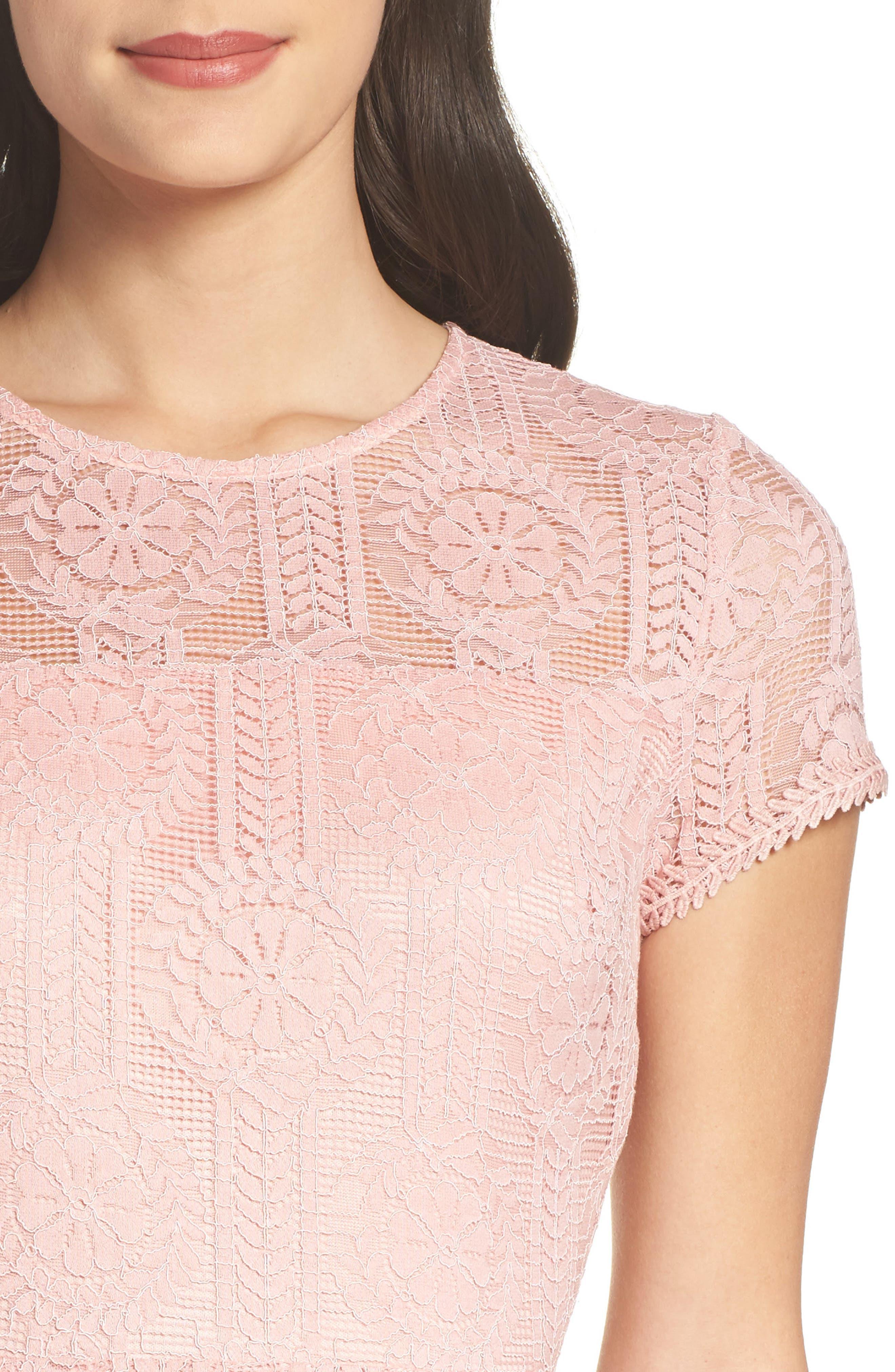 Lace Midi Dress,                             Alternate thumbnail 8, color,