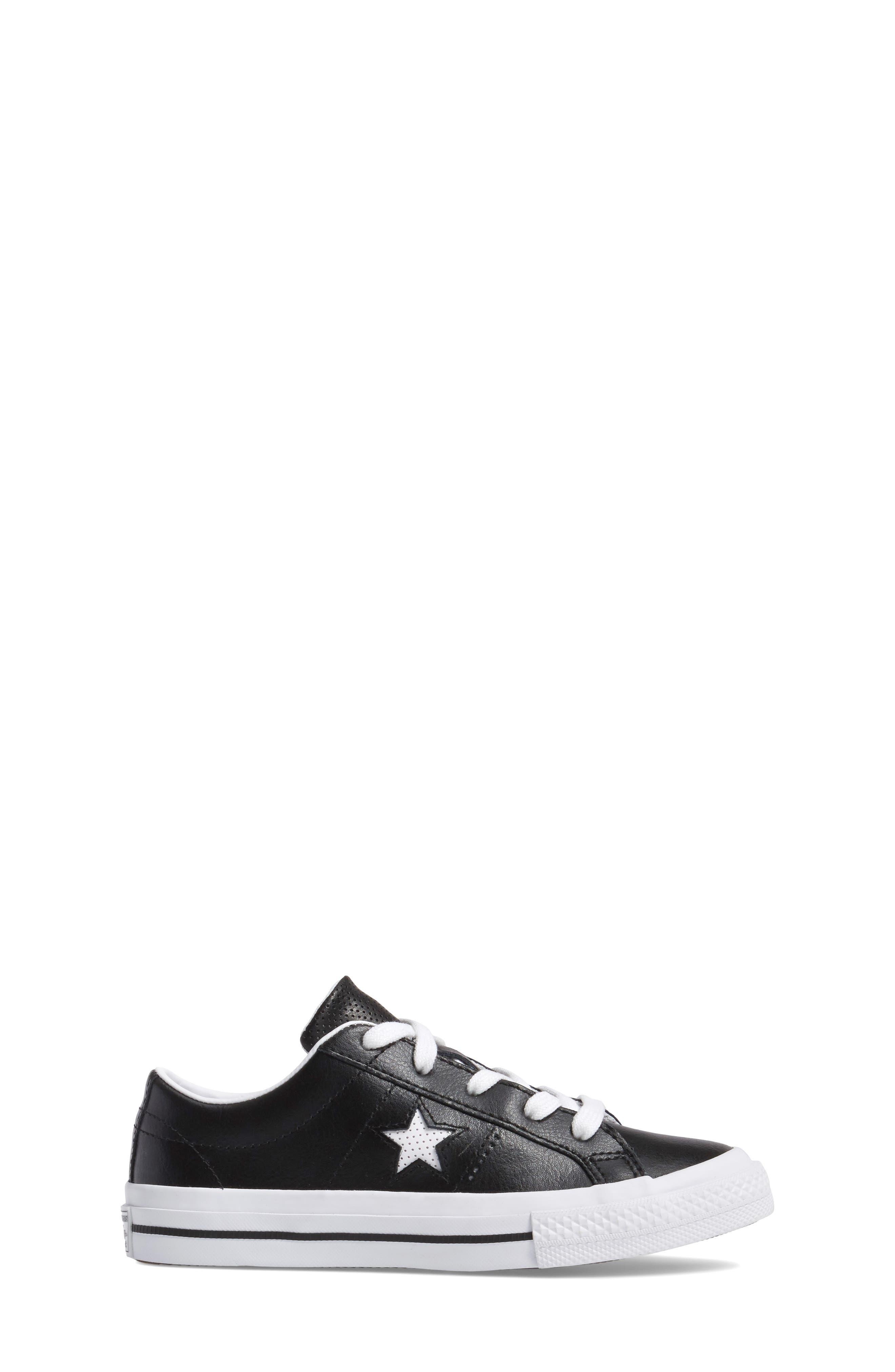 Chuck Taylor<sup>®</sup> All Star<sup>®</sup> One Star Sneaker,                             Alternate thumbnail 3, color,                             001