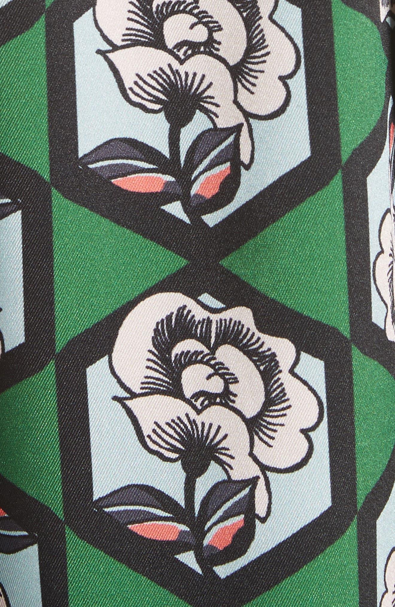 Hexagon Floral Blouse,                             Alternate thumbnail 5, color,                             364