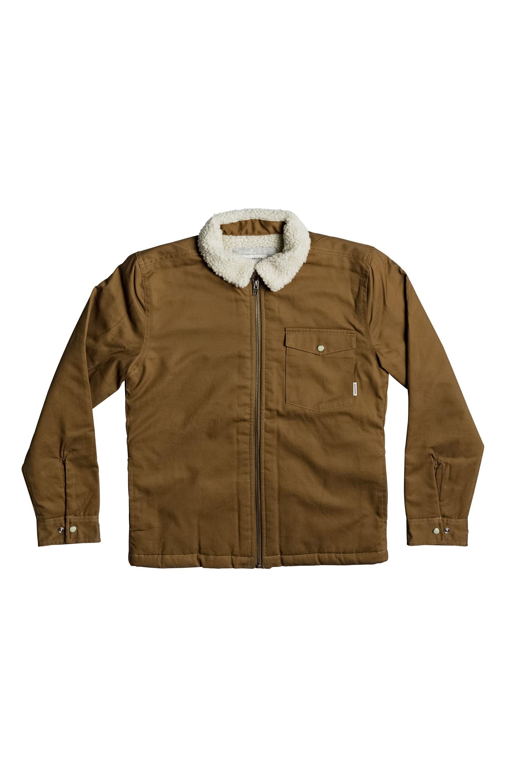 0373c0b2e Quiksilver Dabein Fleece Lined Jacket (Big Boys)