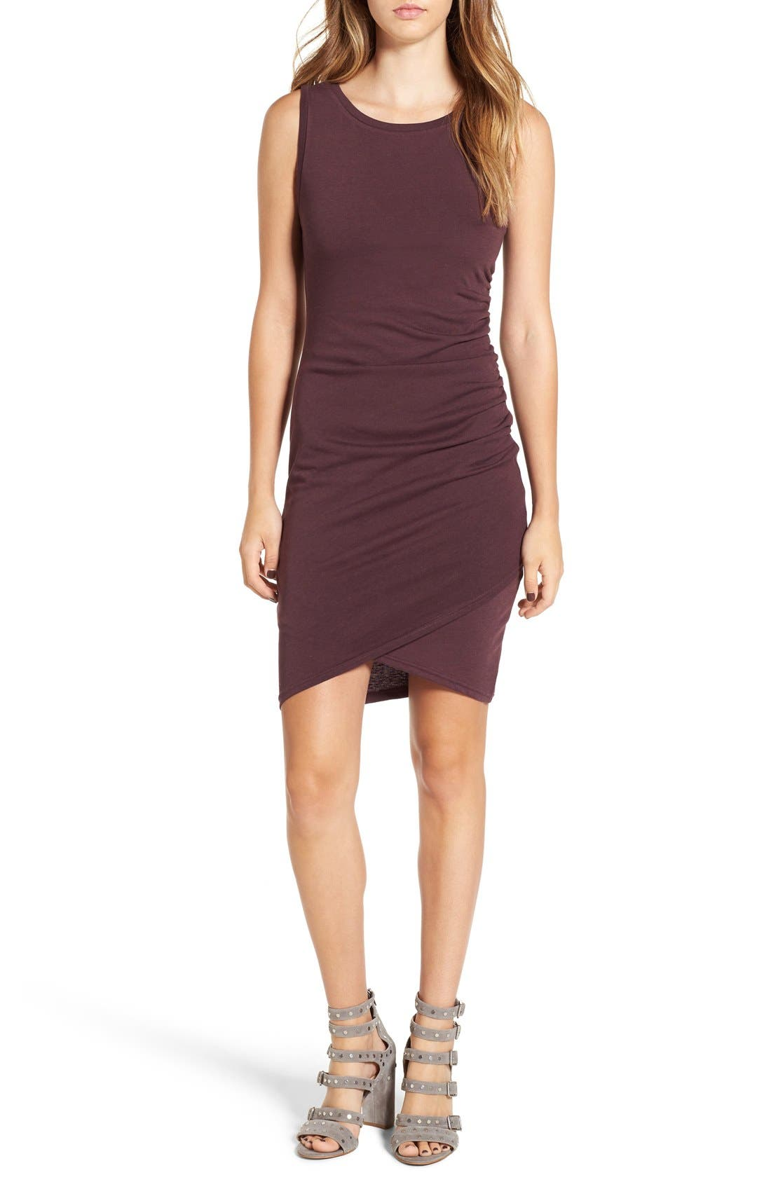 Ruched Body-Con Tank Dress,                             Main thumbnail 34, color,