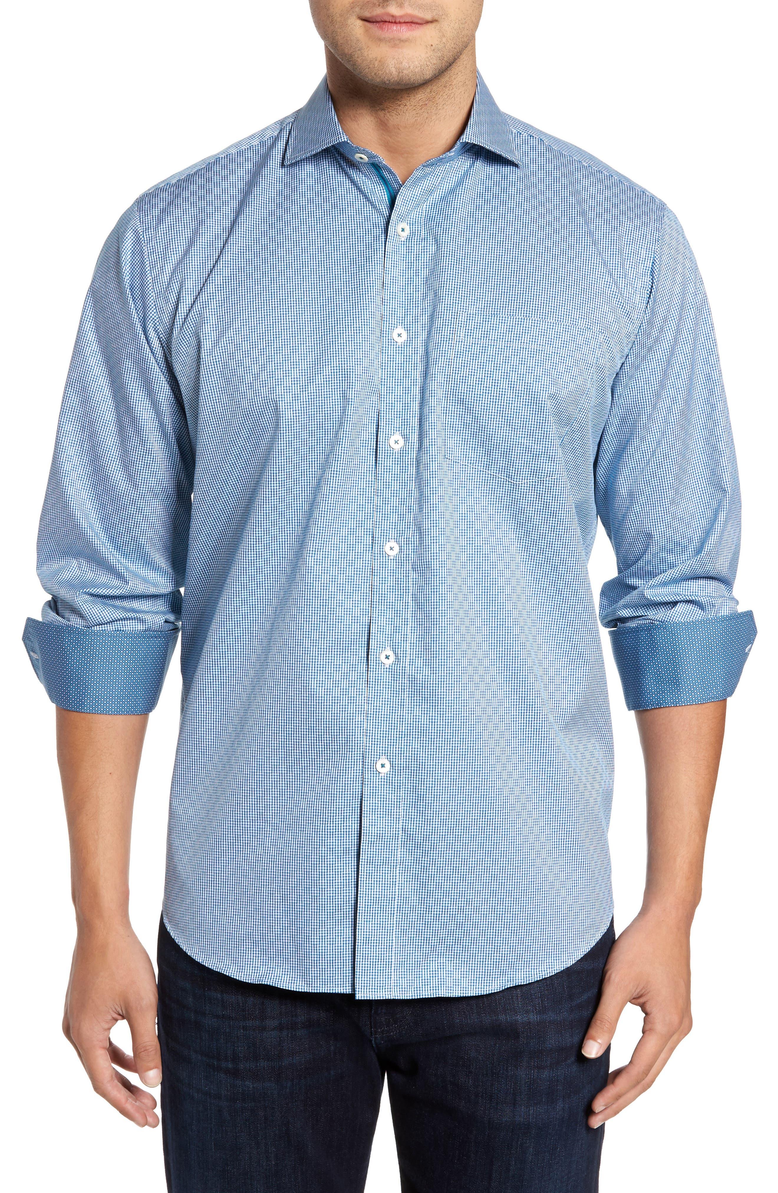 Classic Fit Check Sport Shirt,                         Main,                         color, 445