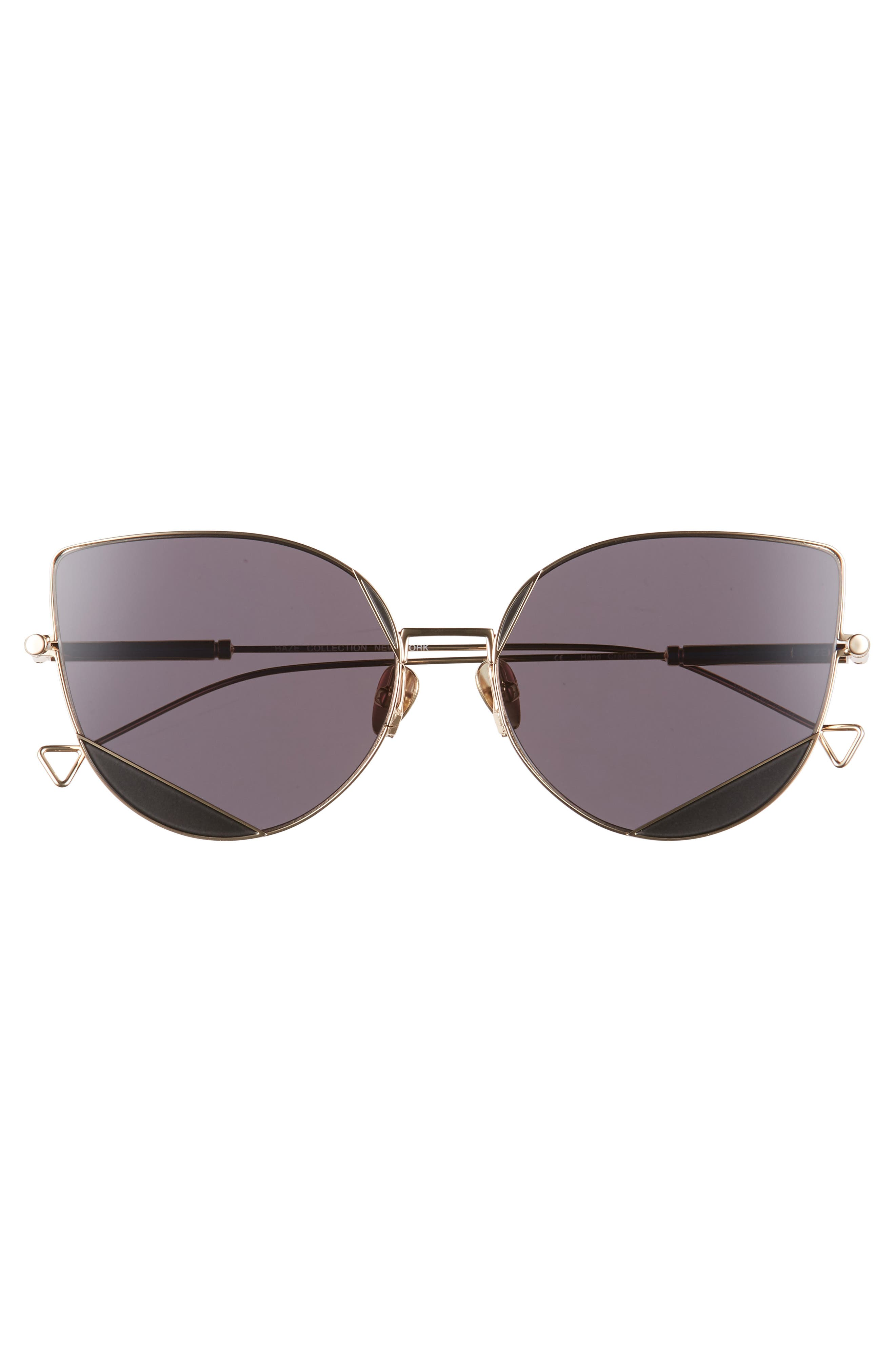 The Nott 57mm Sunglasses,                             Alternate thumbnail 3, color,                             BLACK