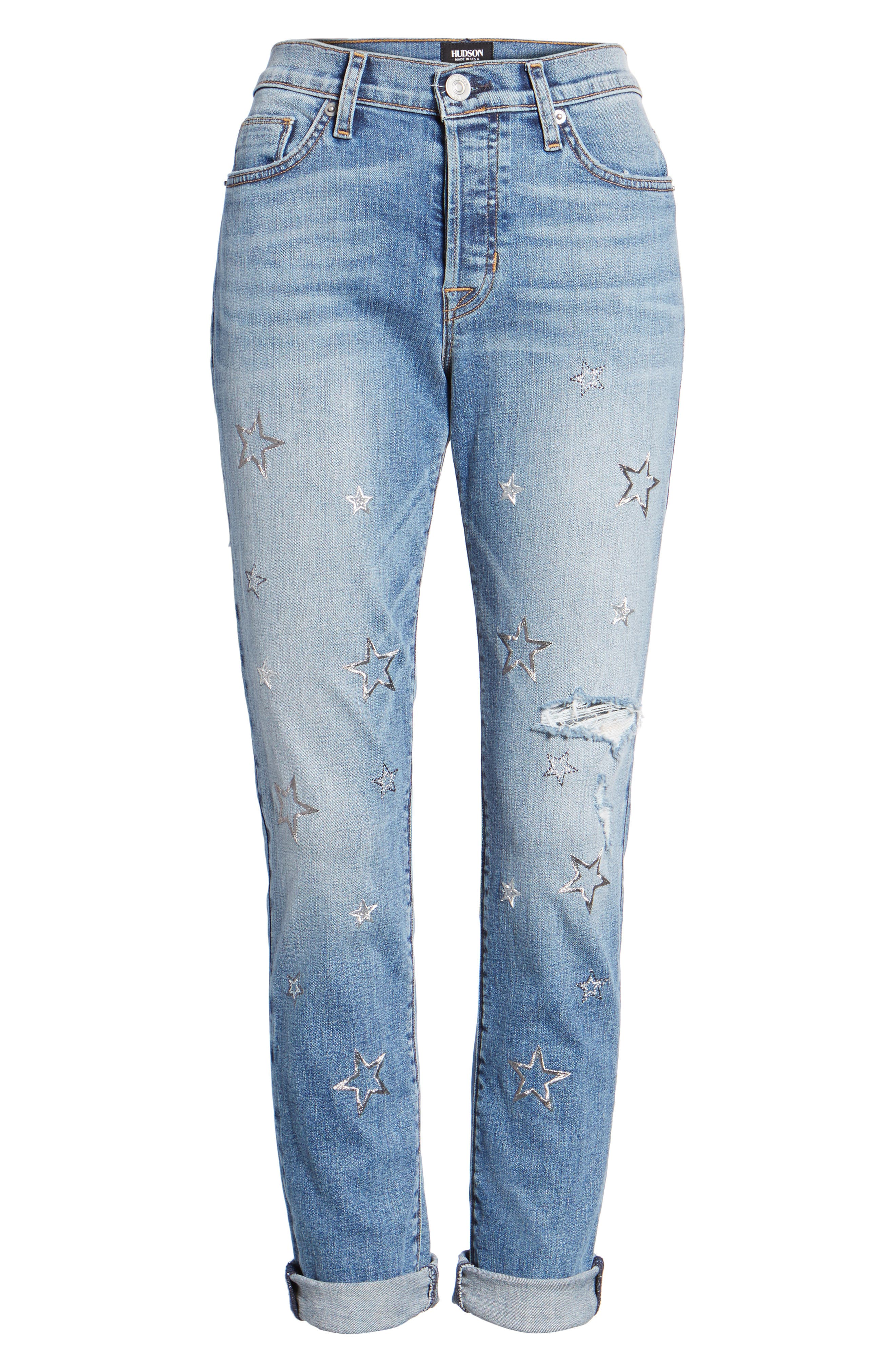 Crop Riley Relaxed Straight Leg Jeans,                             Alternate thumbnail 6, color,                             402