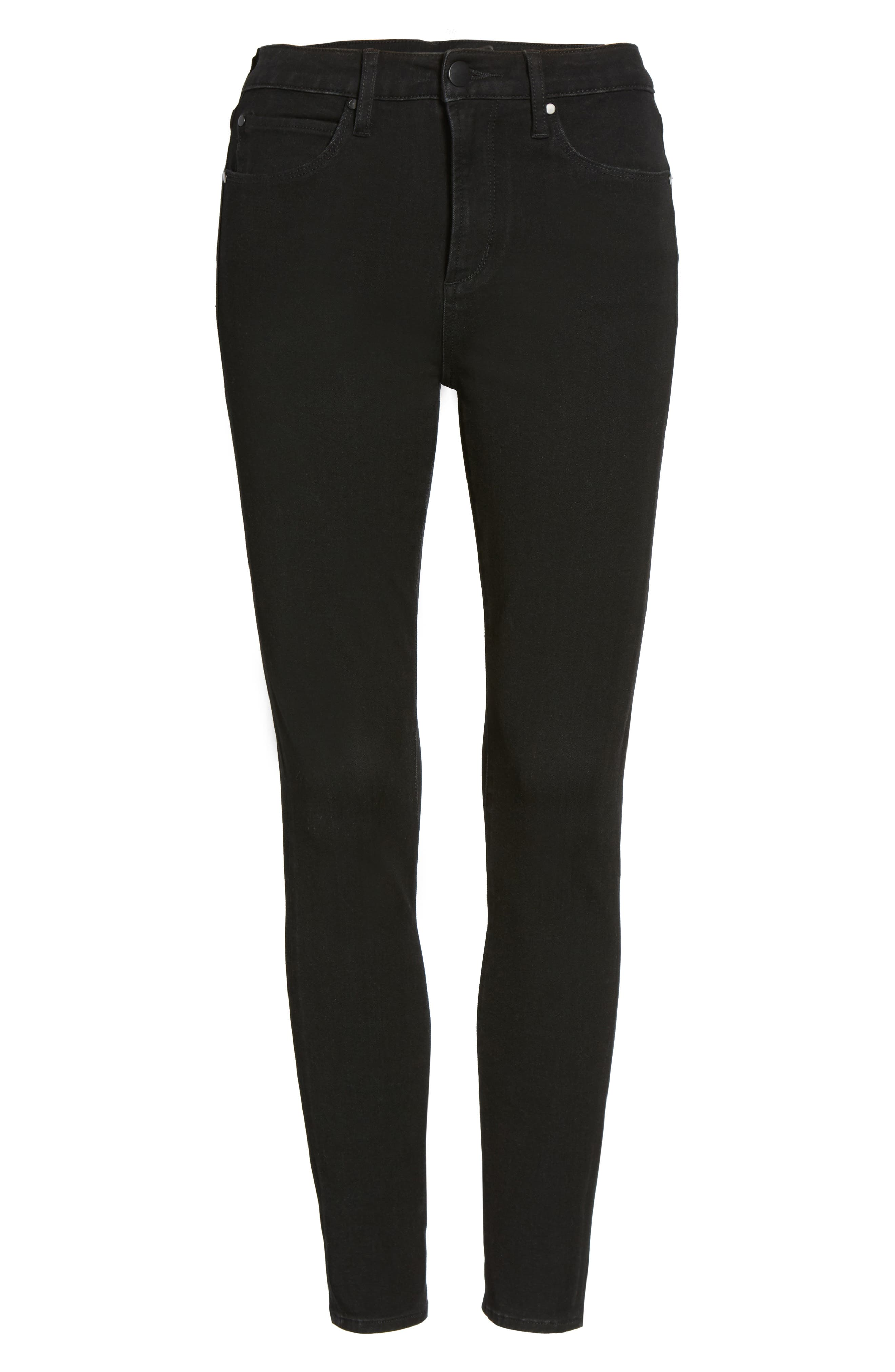 Ankle Skinny Jeans,                             Alternate thumbnail 6, color,                             001